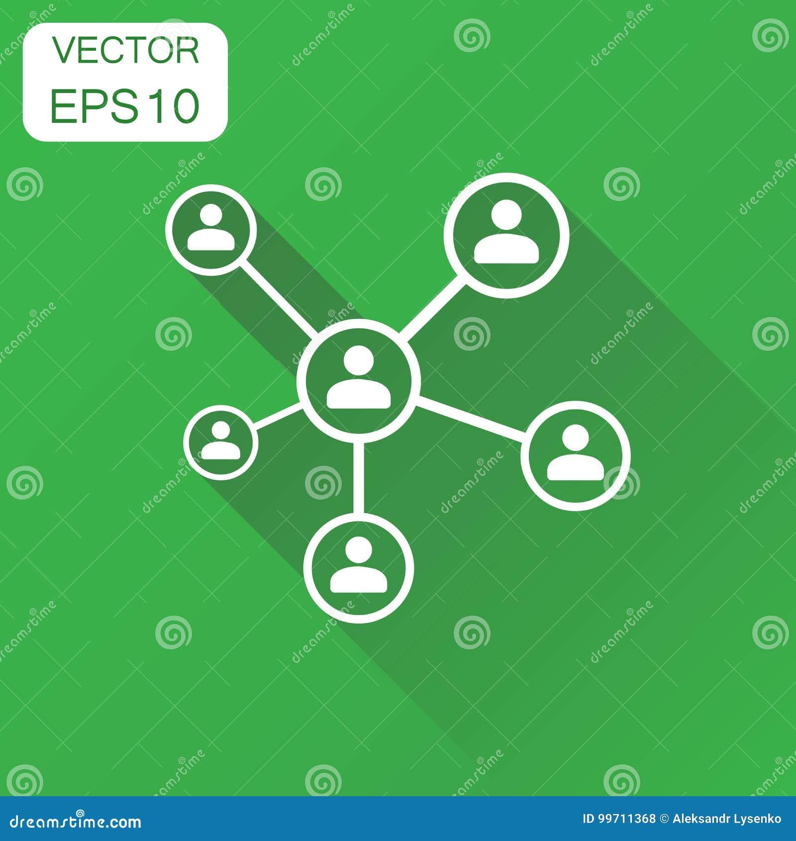 Nätverkssymbol Pictogram för affärsidéfolkanslutning Vect