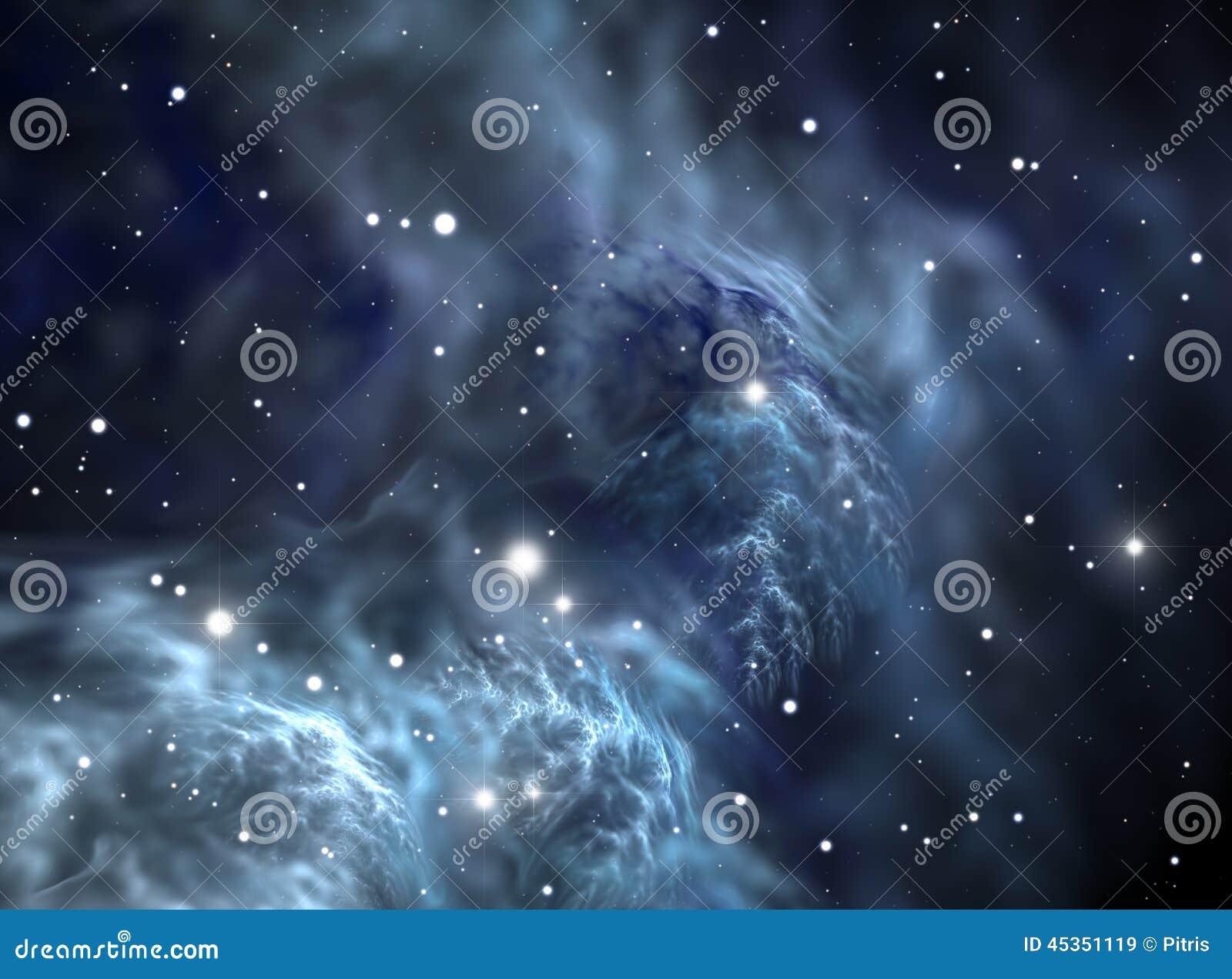 Download Nébuleuse D'étoile De L'espace Illustration Stock - Illustration du fond, astronomique: 45351119