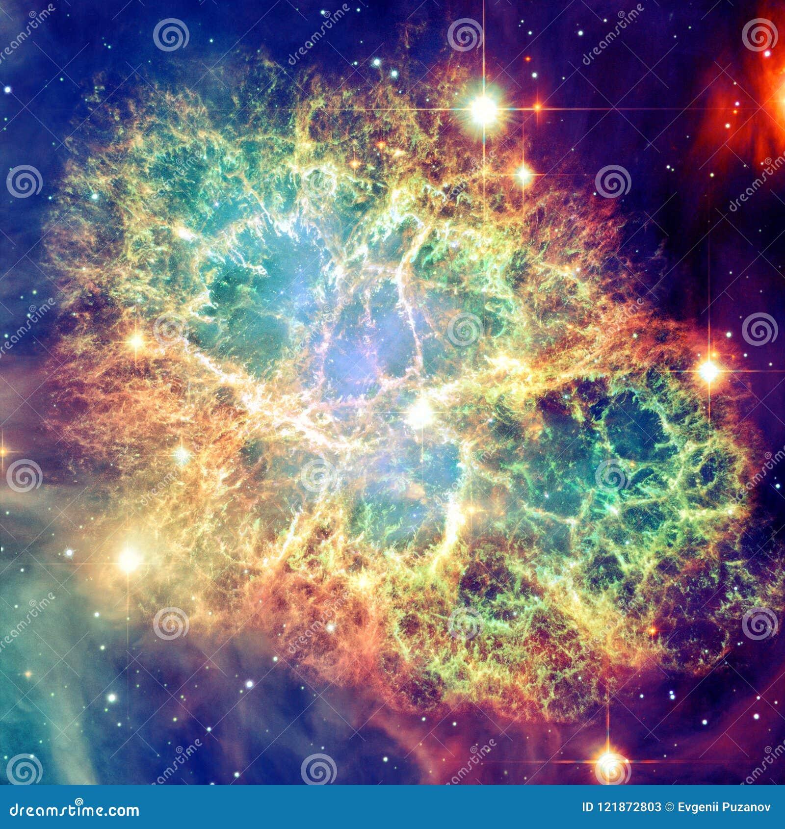 Nébuleuse de crabe Éléments de cette image meublés par la NASA