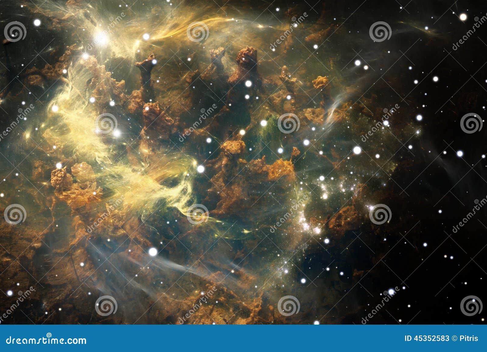 Download Nébuleuse Le Nuage Du Gaz Et De La Poussière Bloque La Lumière Des étoiles éloignées Illustration Stock - Illustration du complexe, explosion: 45352583