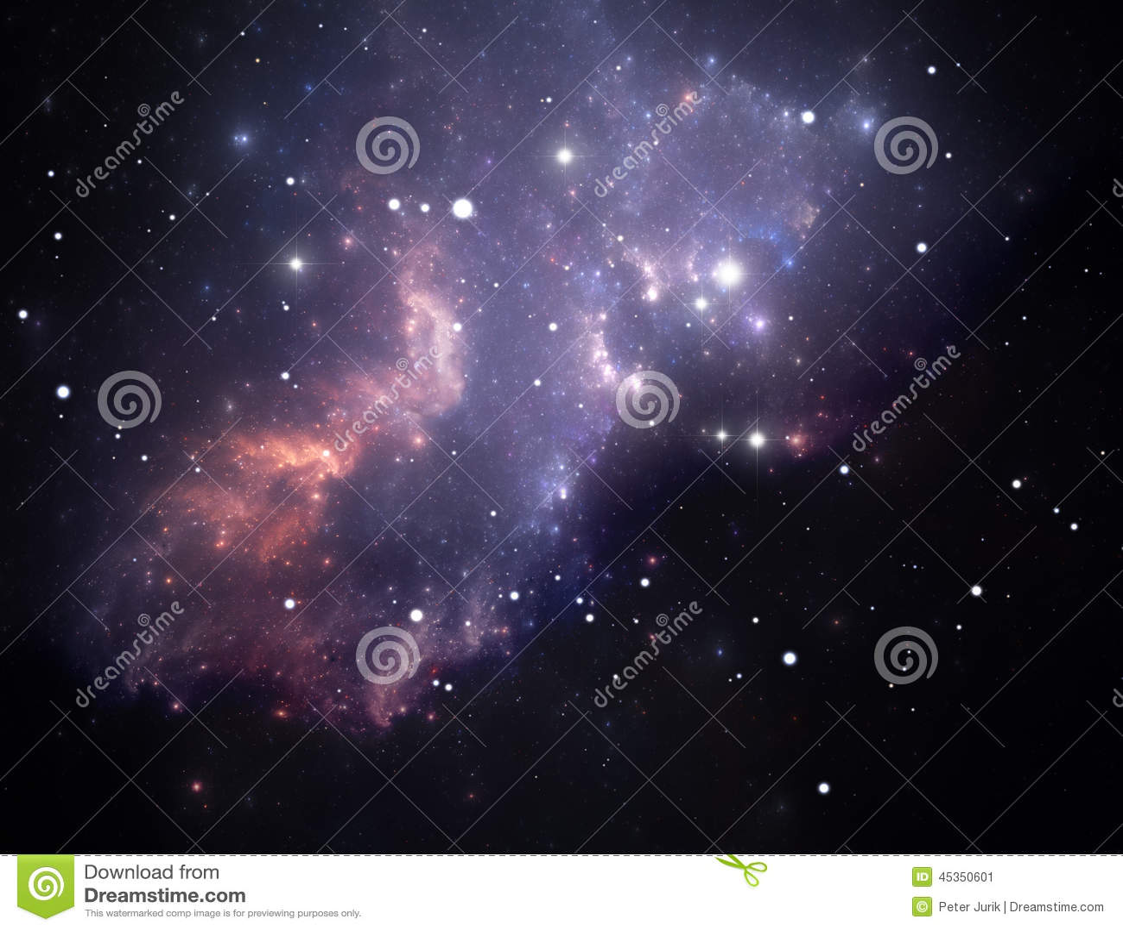 Download Nébuleuse Pourprée D'étoile De L'espace Illustration Stock - Illustration du mystère, noir: 45350601