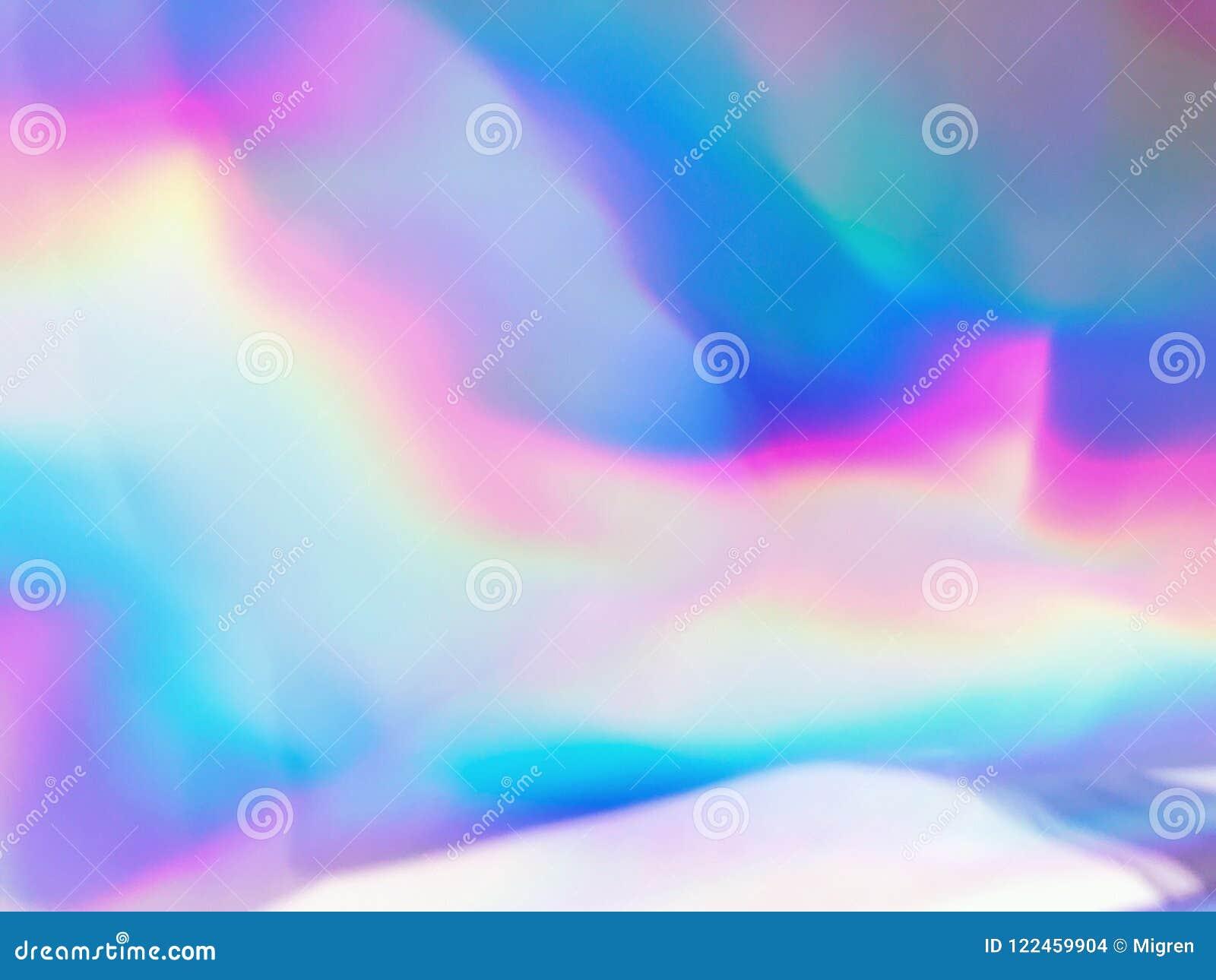 Néon olographe et couleurs en pastel