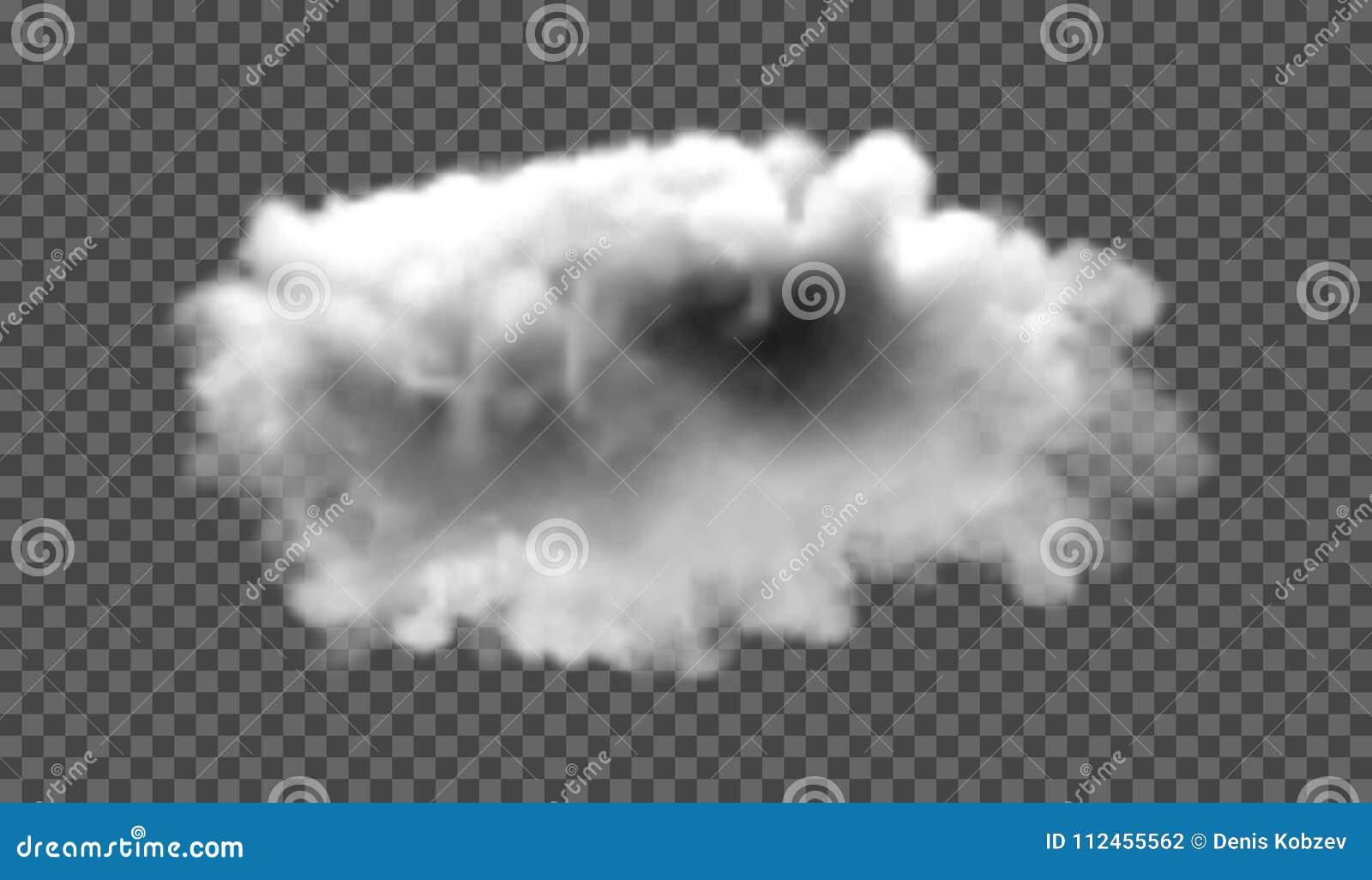 Névoa ou efeito especial transparente isolado fumo Fundo branco da opacidade, da névoa ou da poluição atmosférica Ilustração do v