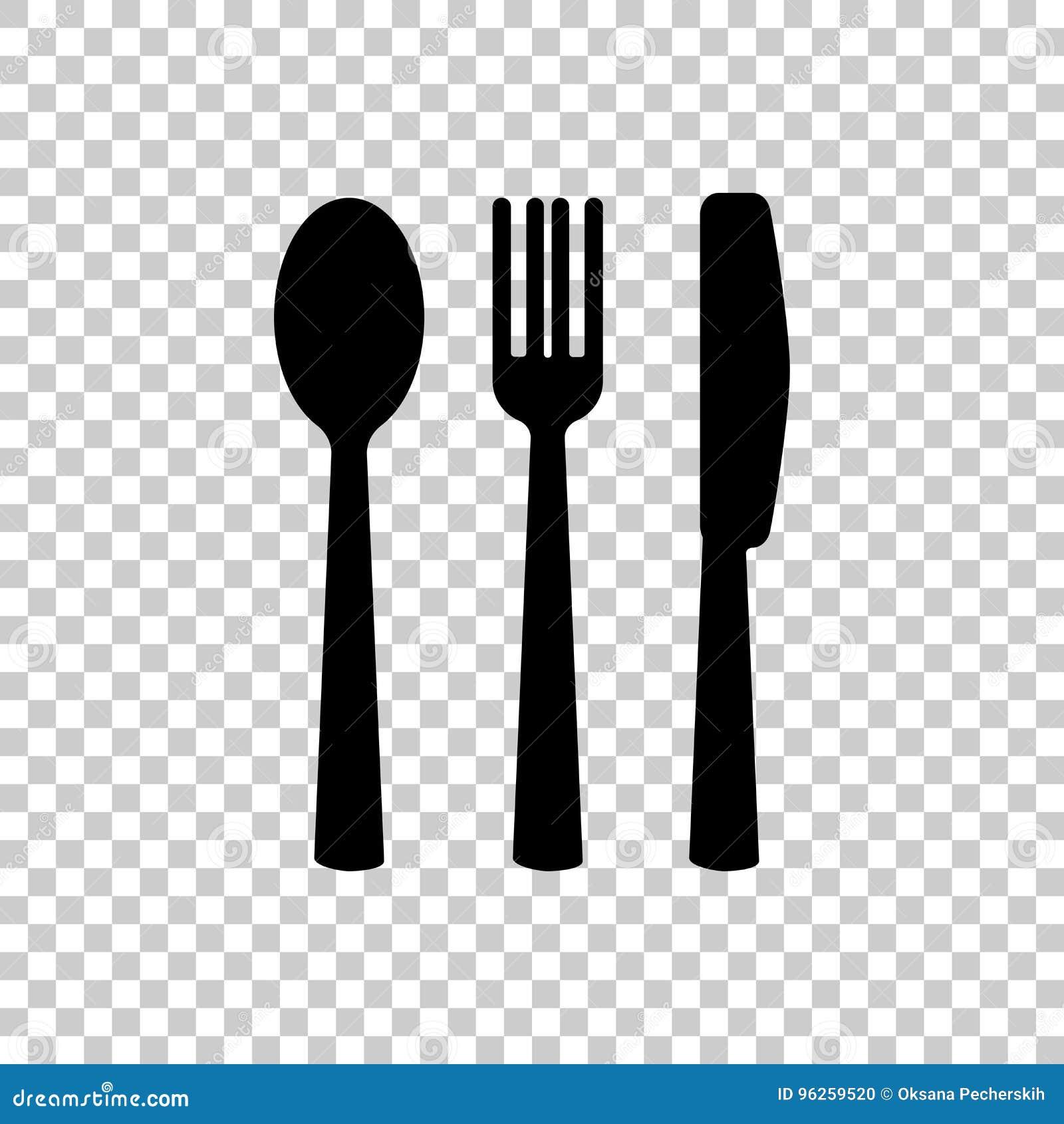 Nóż, rozwidlenie, łyżka cutlery Zgłasza położenie przygotowywa ikonę