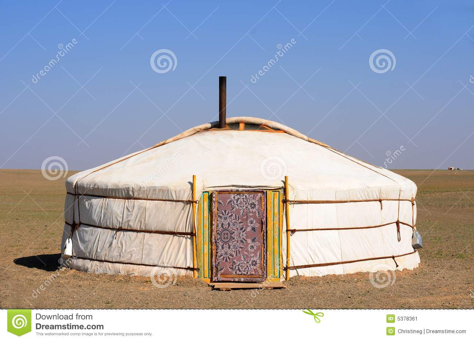 Nómada Gers (yurt) del â de Mongolia