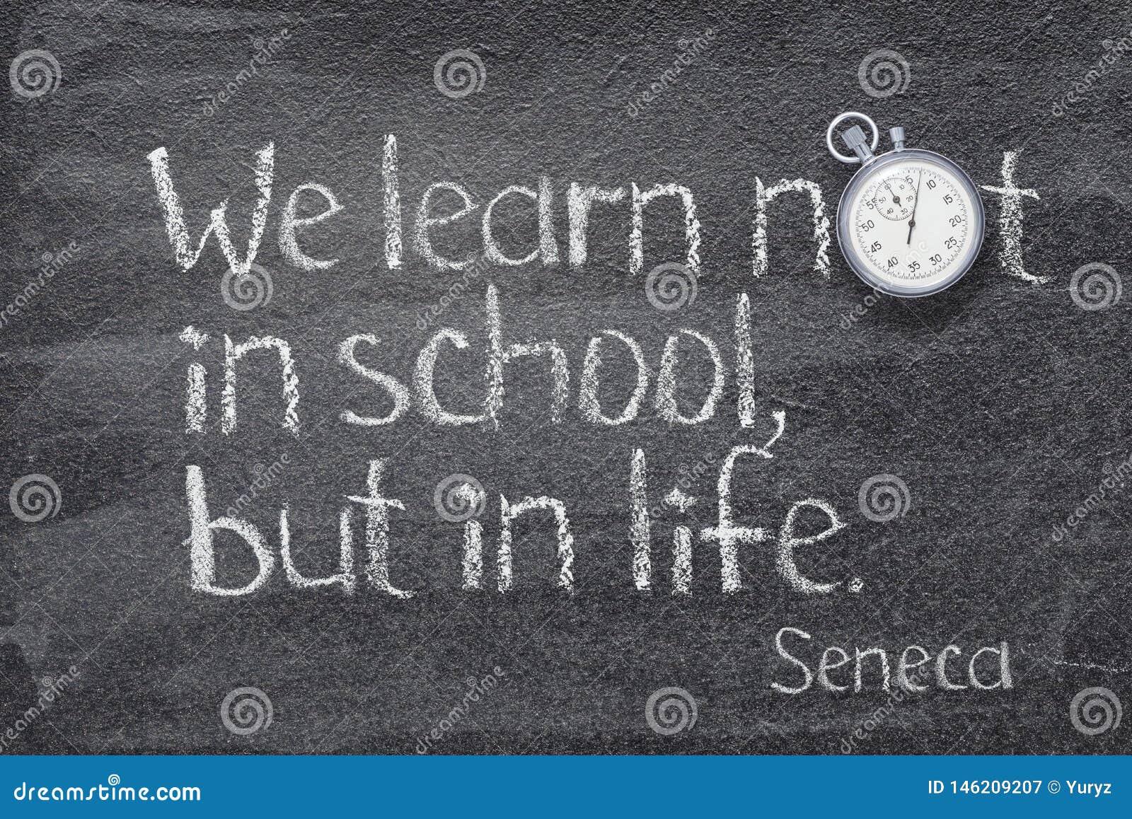 Nós aprendemos o Seneca
