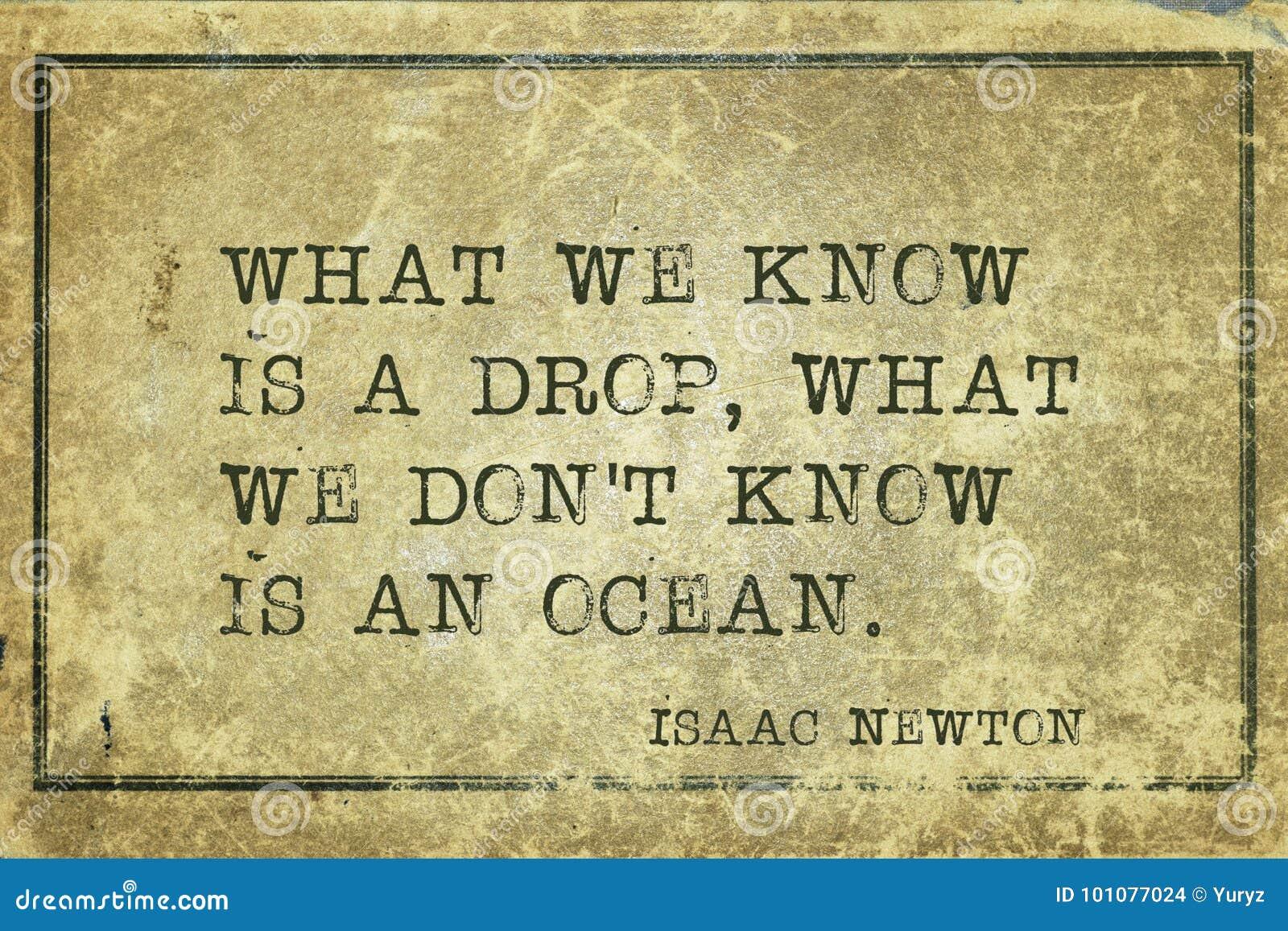 Nós conhecemos Newton