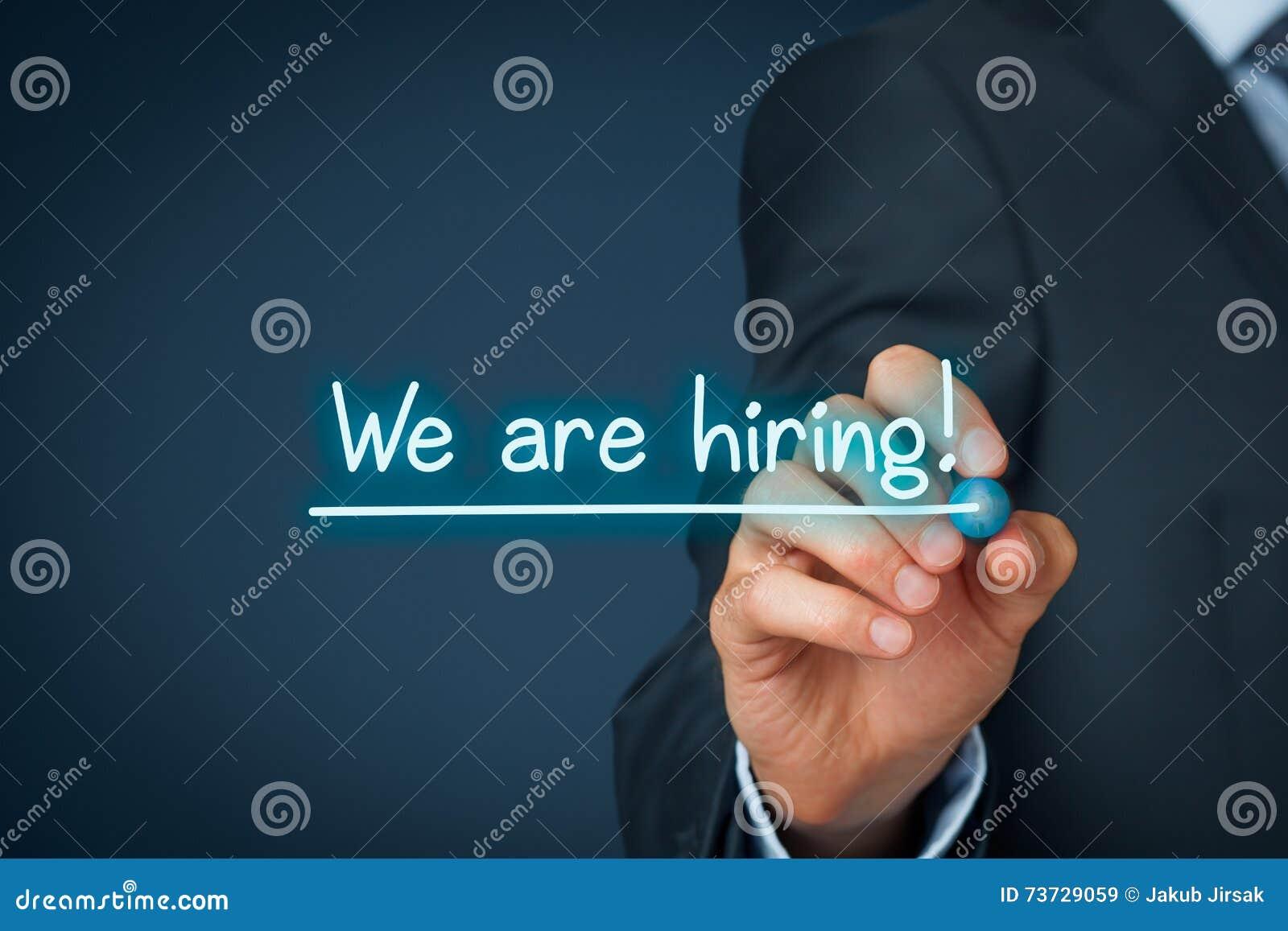 Nós estamos contratando