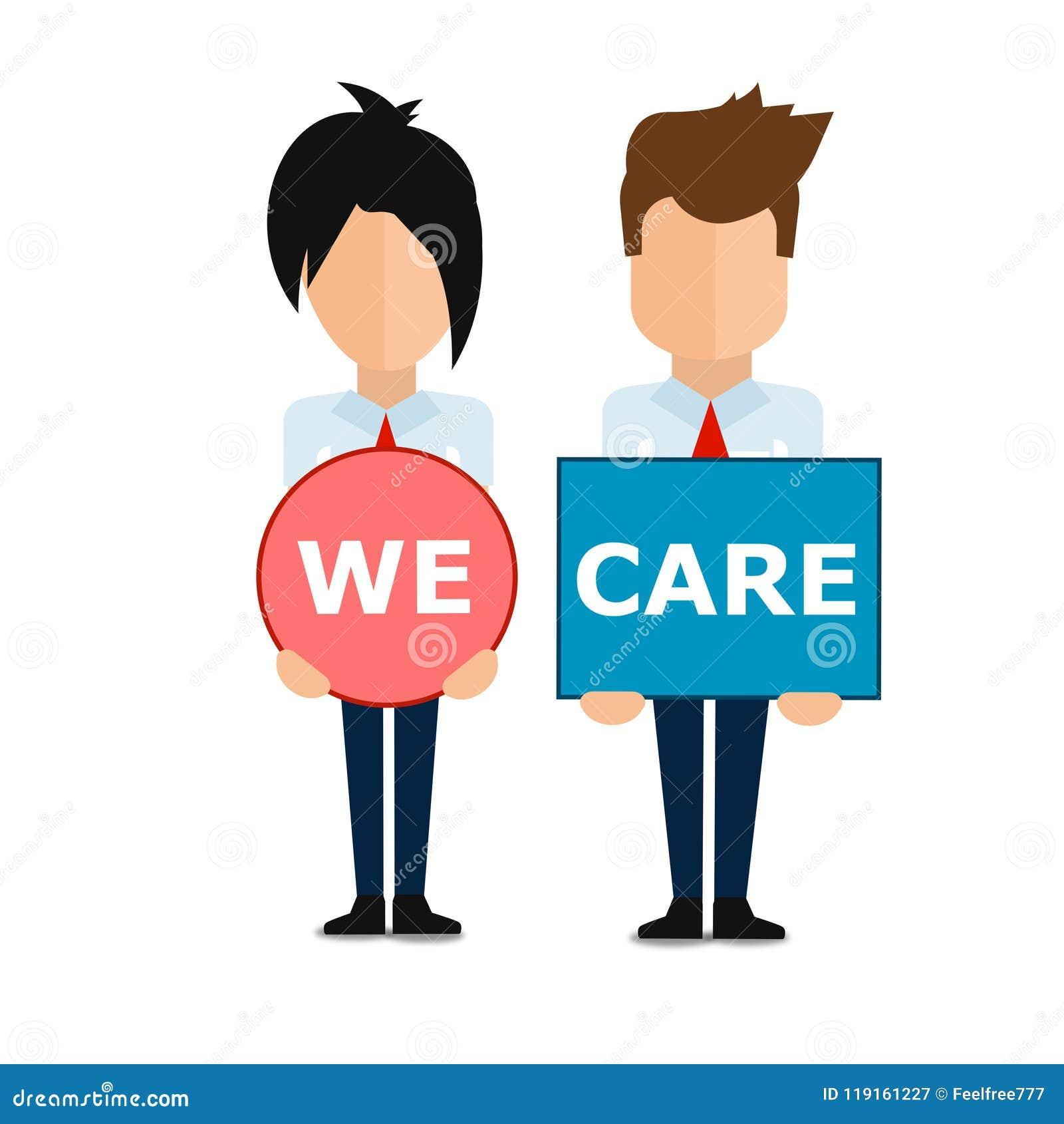 NÓS importamo-nos com você, cartaz super do negócio do sumário da qualidade