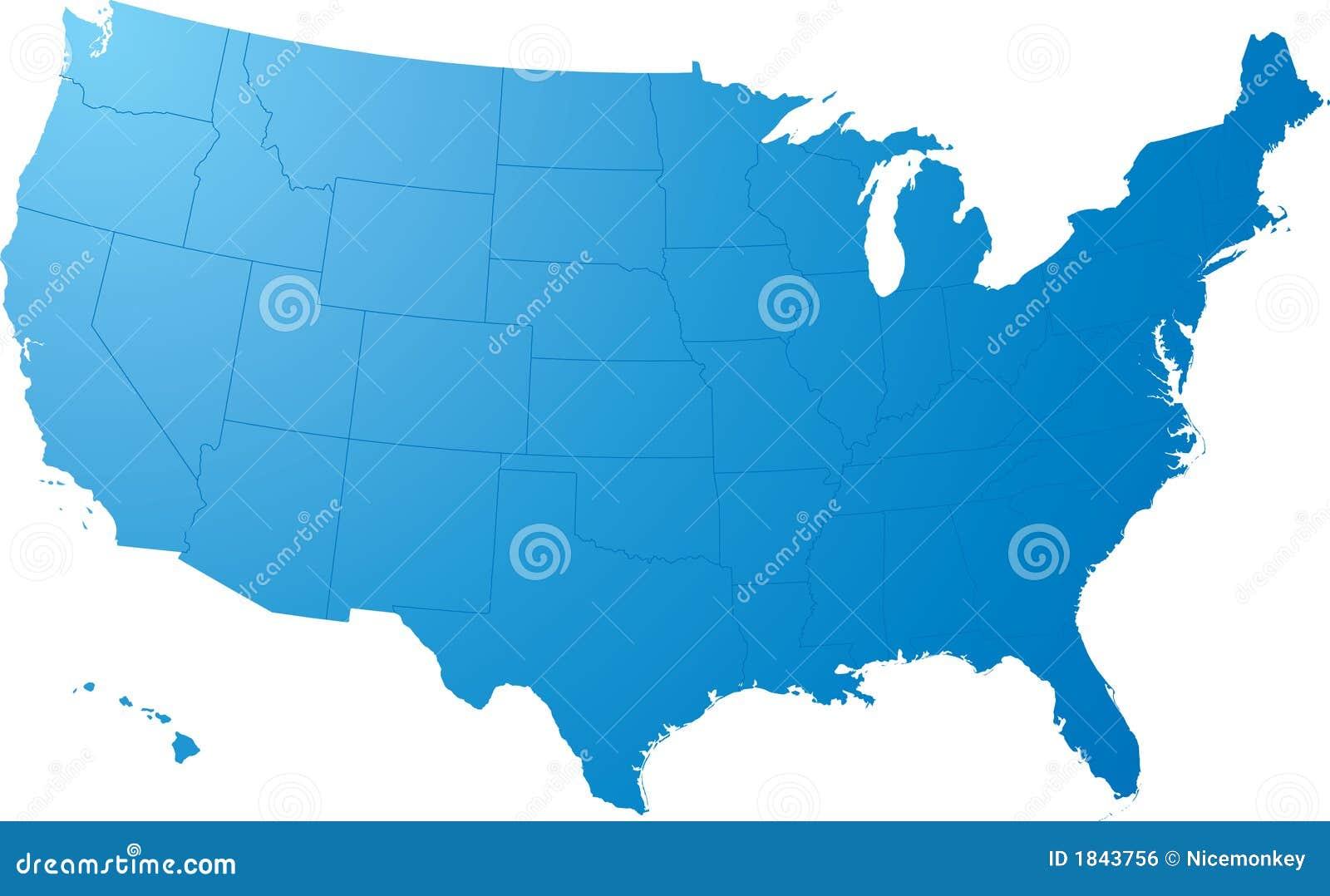 Nós planície do mapa