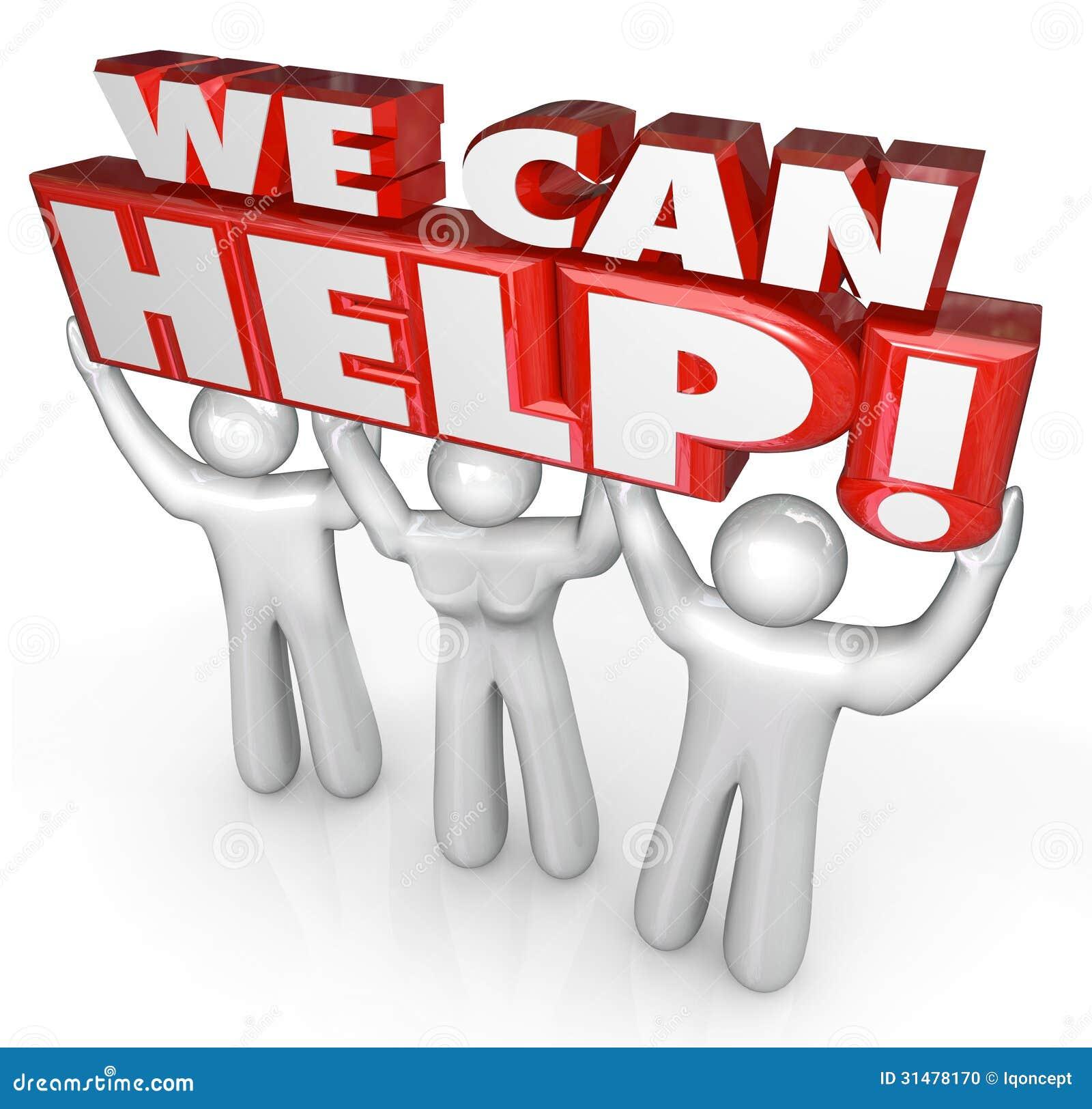 Nós podemos ajudar ajudantes do apoio de serviço ao cliente