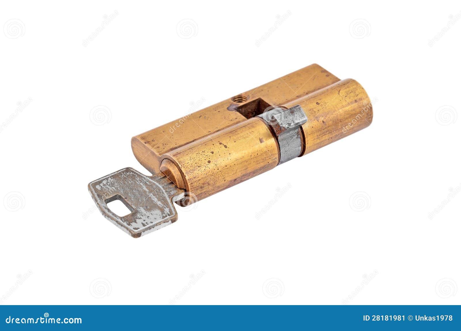 Núcleo do cilindro da fechadura da porta com chave