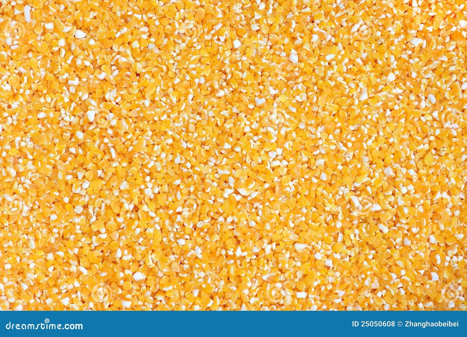 Núcleos de maíz hechos fragmentos