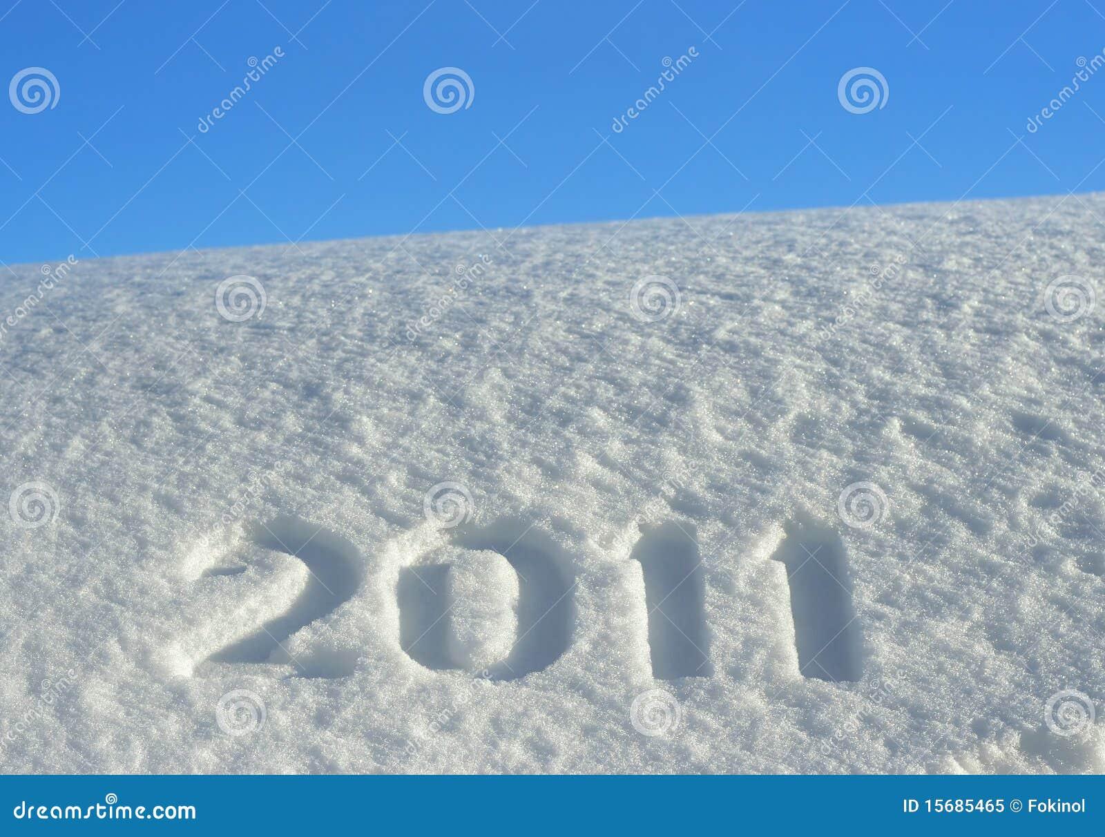 Número 2011 no snowdrift