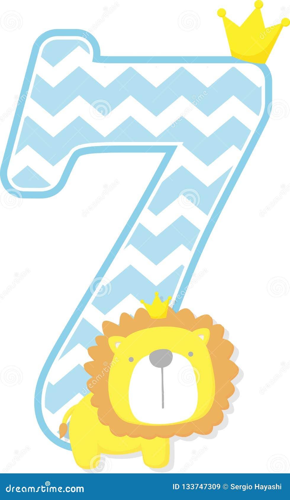 Número 7 Con El Rey Del León Y El Modelo Lindos Del Galón