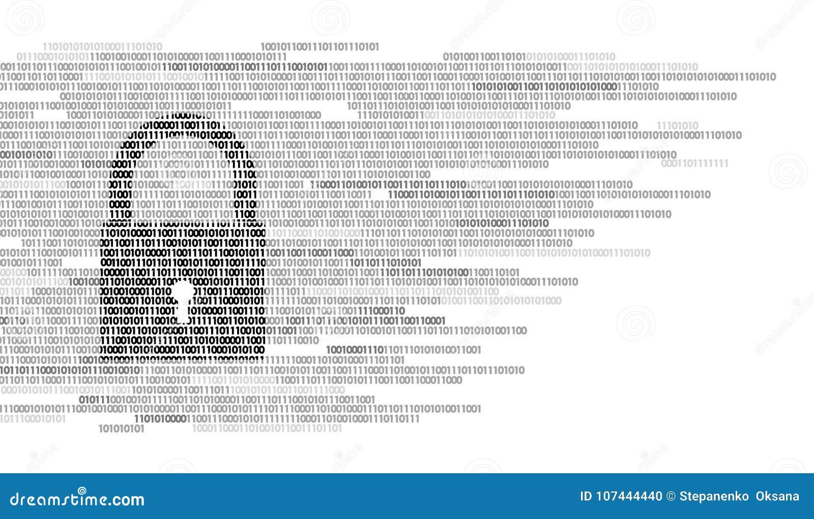 Número De Código Binario De La Muestra Del Guardia De La Cerradura ...