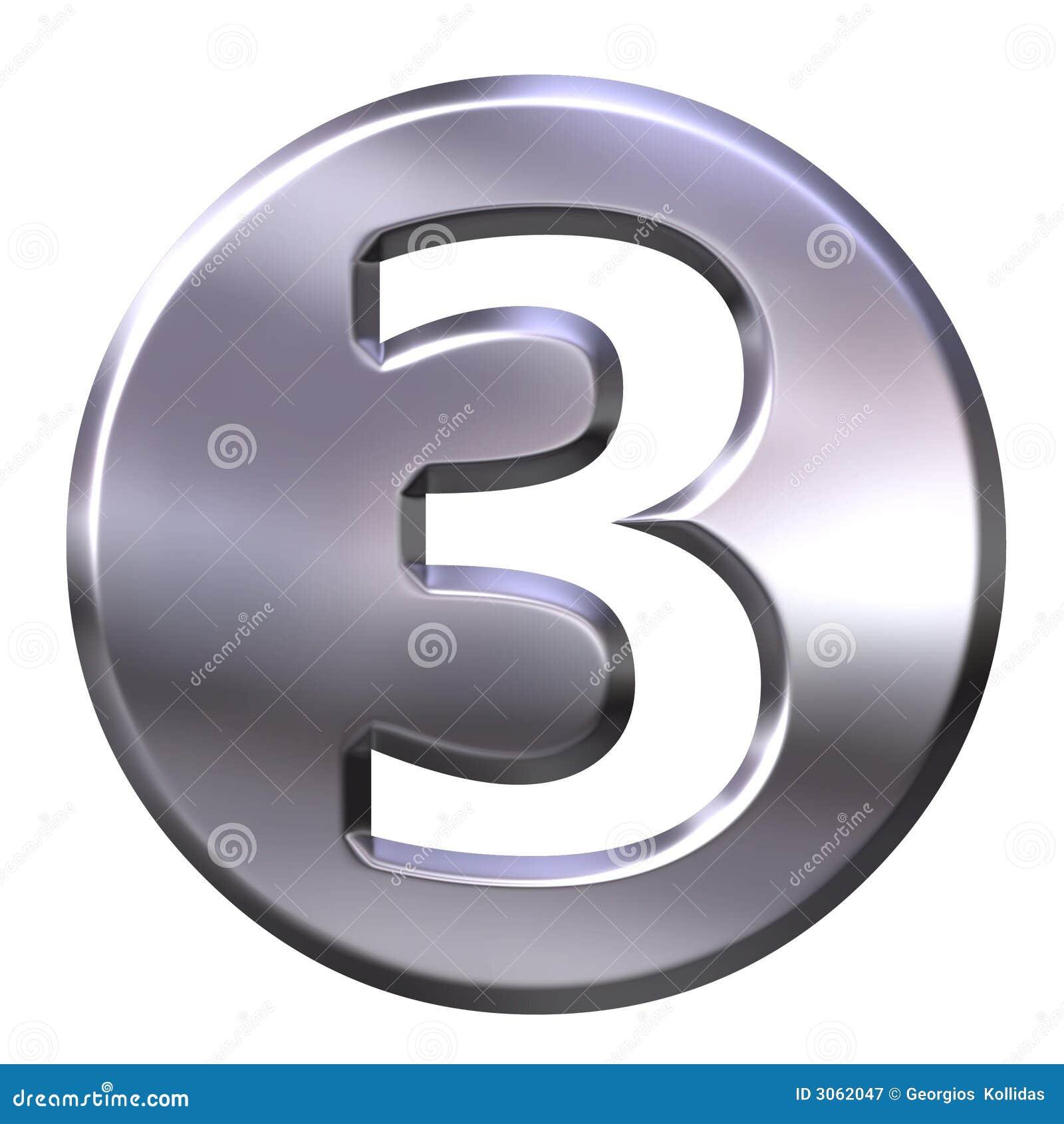 Número quadro 3 da prata