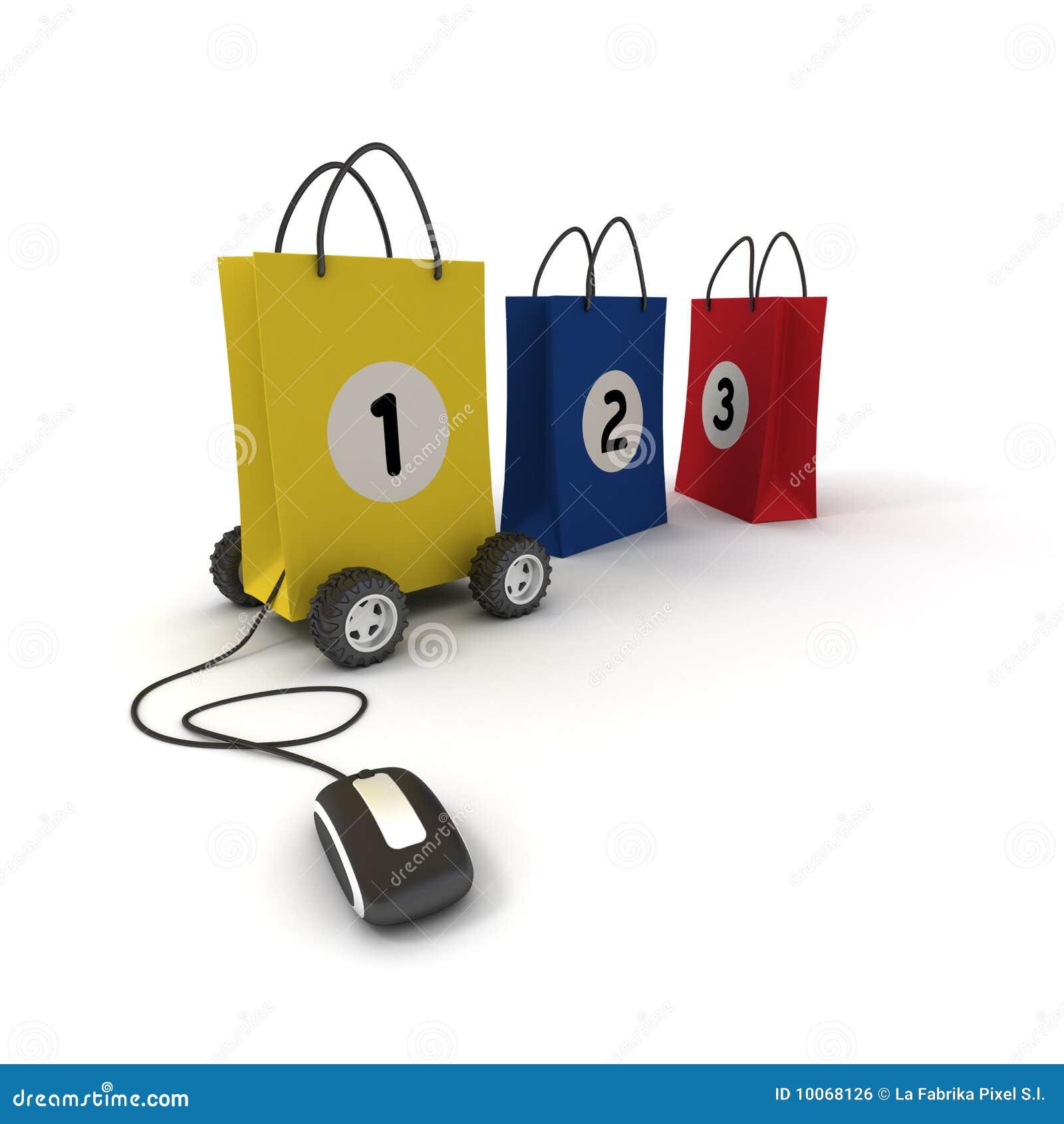 Número um na compra em linha