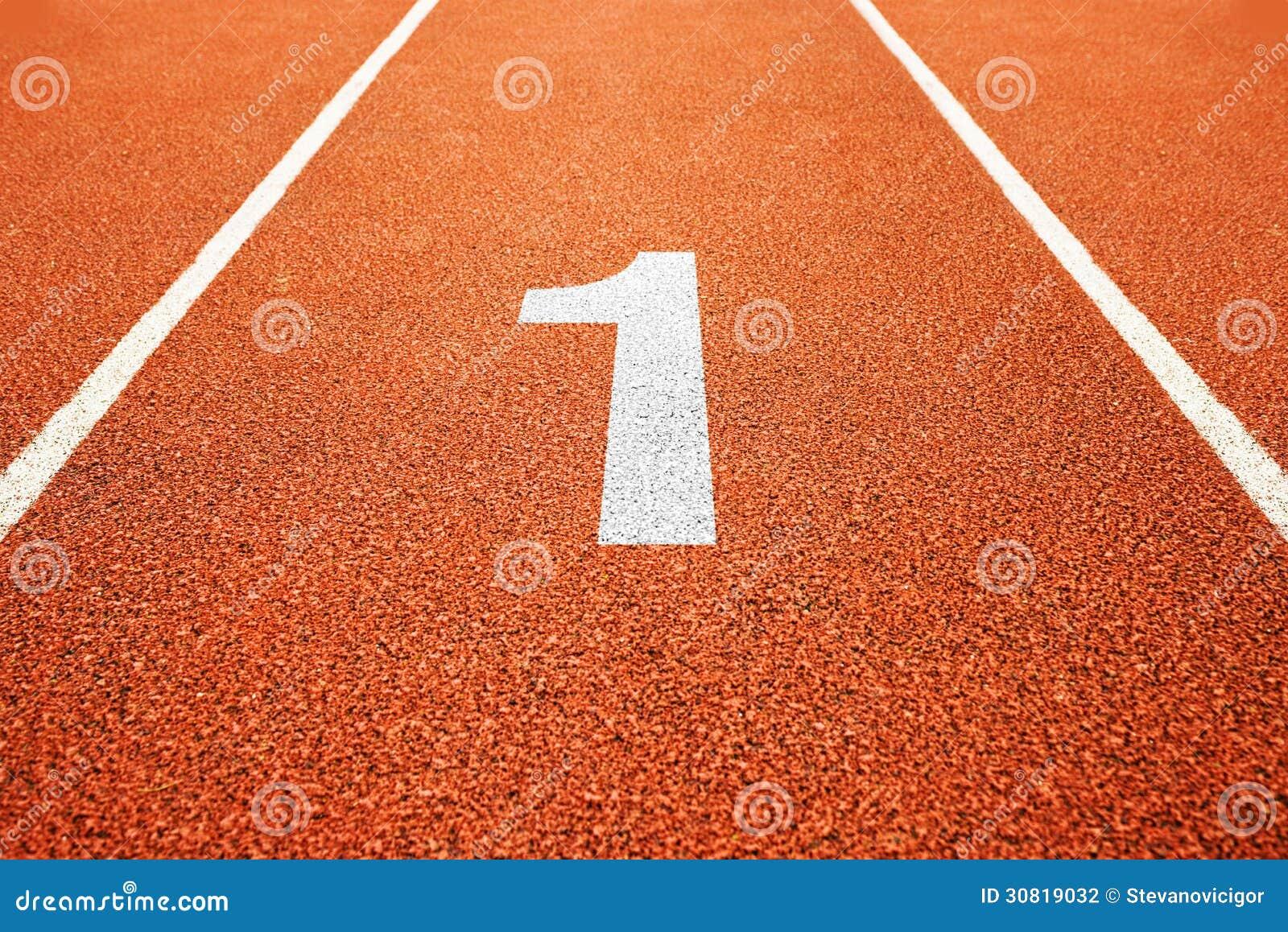 Número um na pista de atletismo