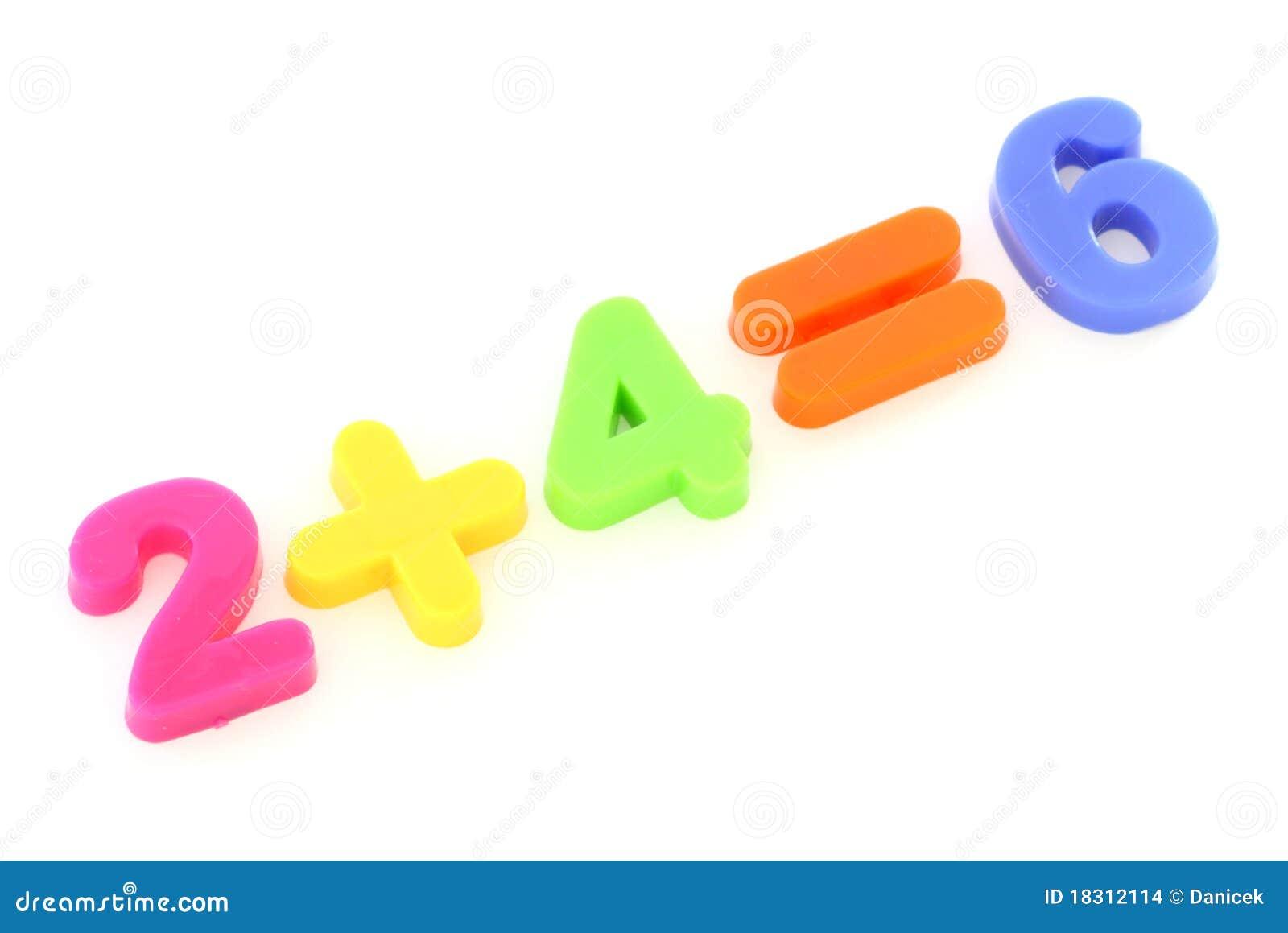 Números dos dígitos coloridos do brinquedo