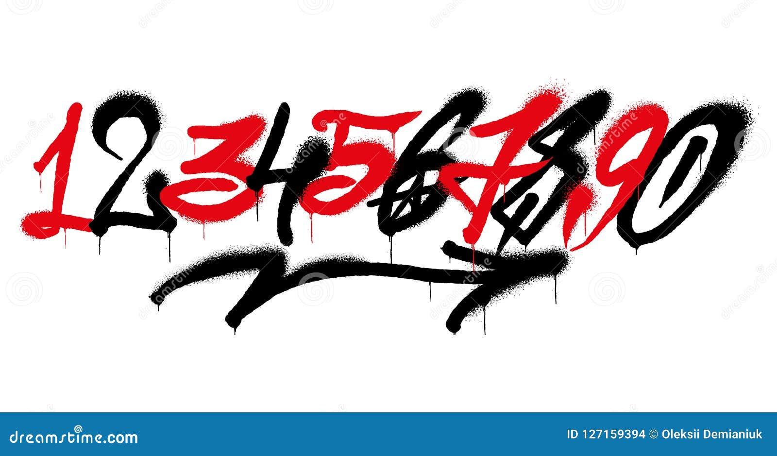 Números dos grafittis