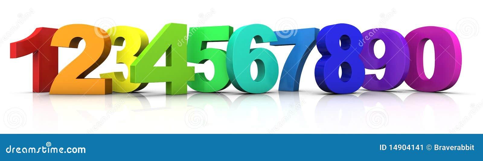 Números multicolores