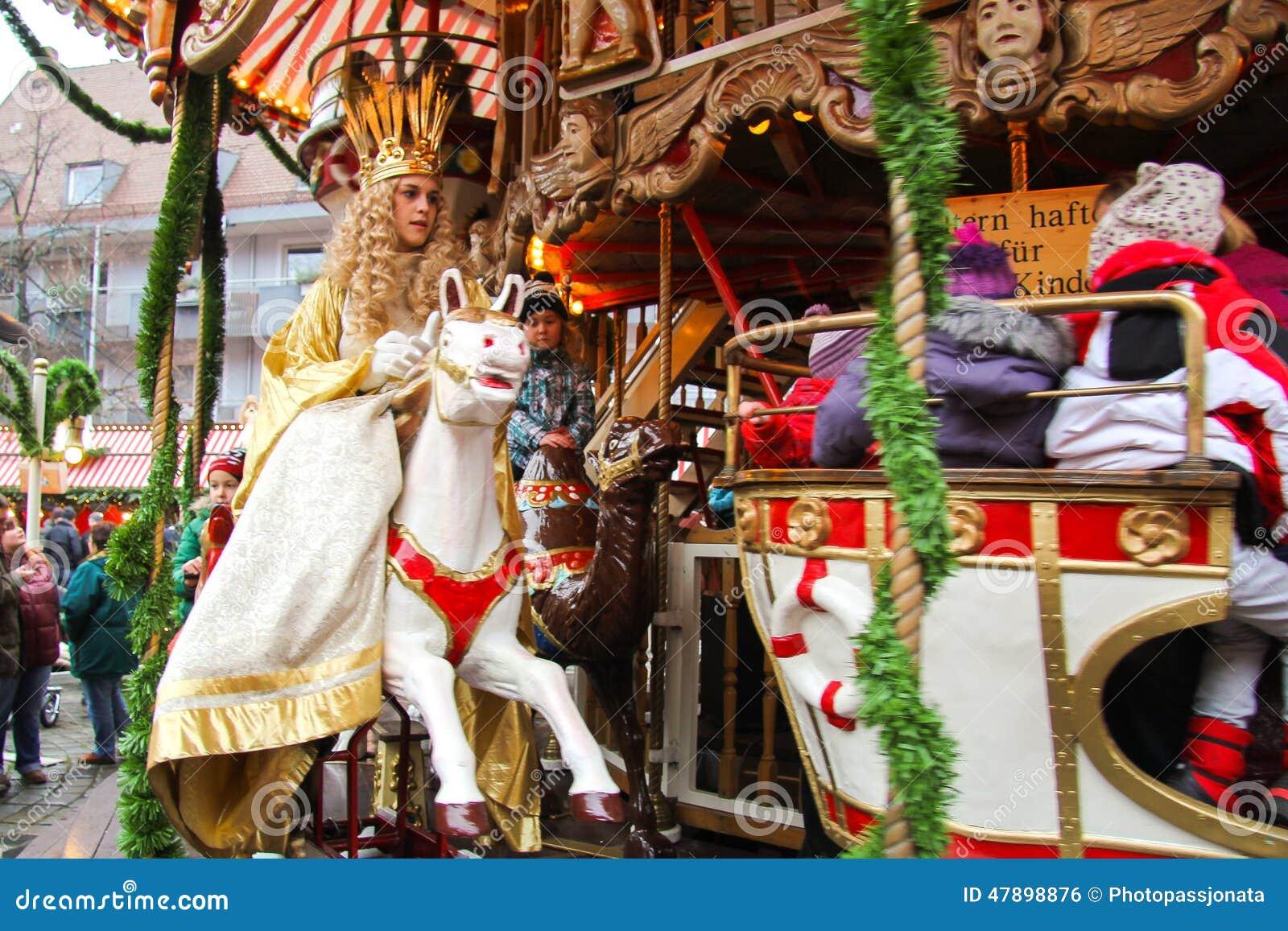 Nürnberg-Christkind-Symbol Des Weihnachtsmarktes Auf Dem ...