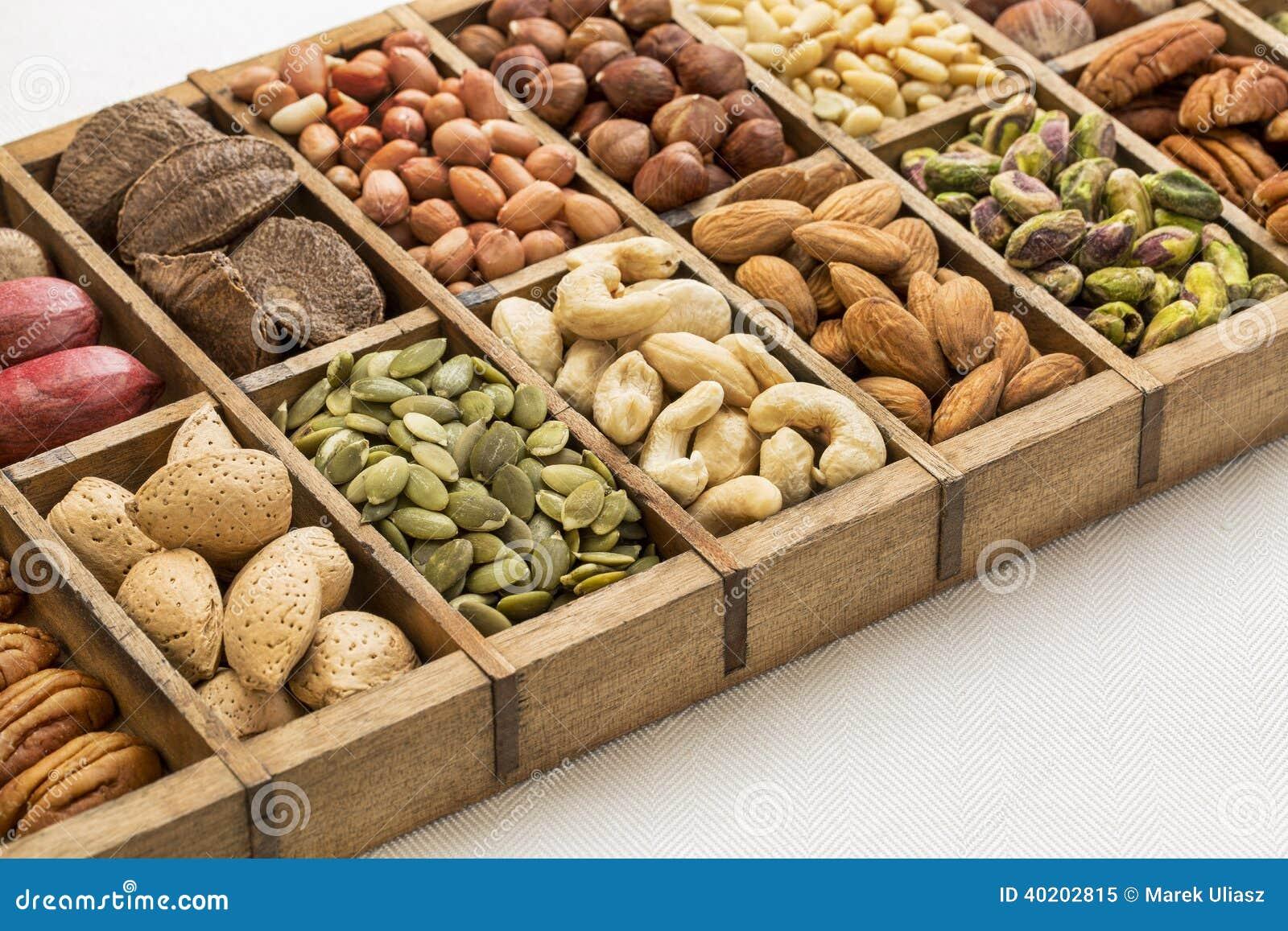 Nüsse und Samenzusammenfassung
