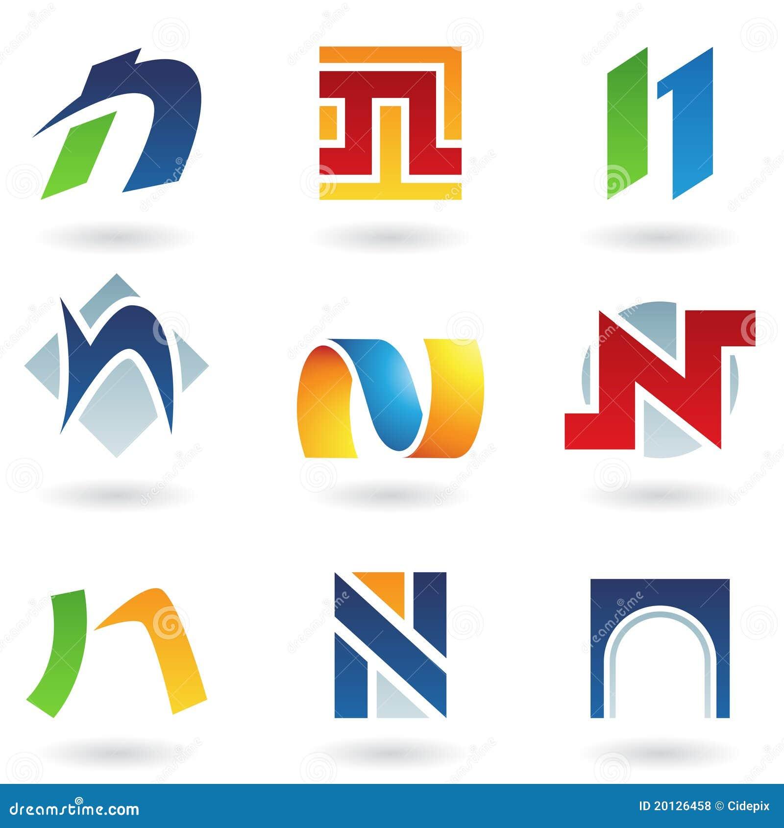 抽象图标字母n