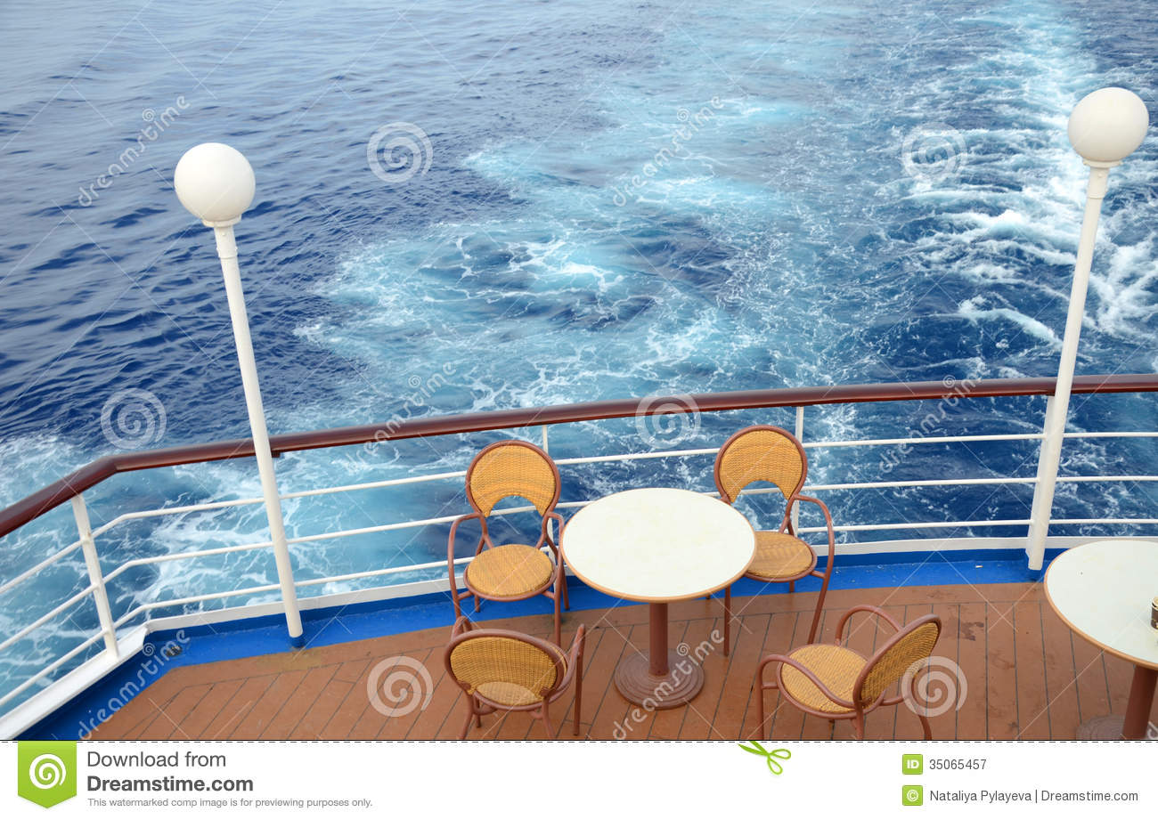 Оn The Deck Of A Cruise Ship In The Mediterranean Stock Image - Cruise ship pool table