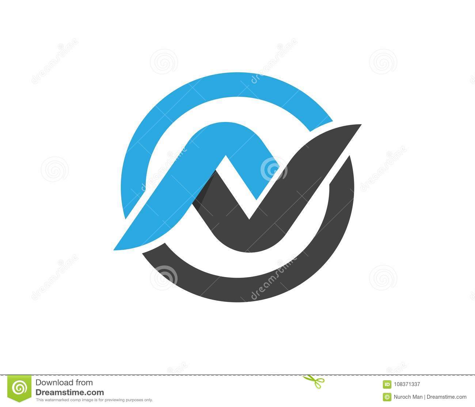 n letter logos template vector