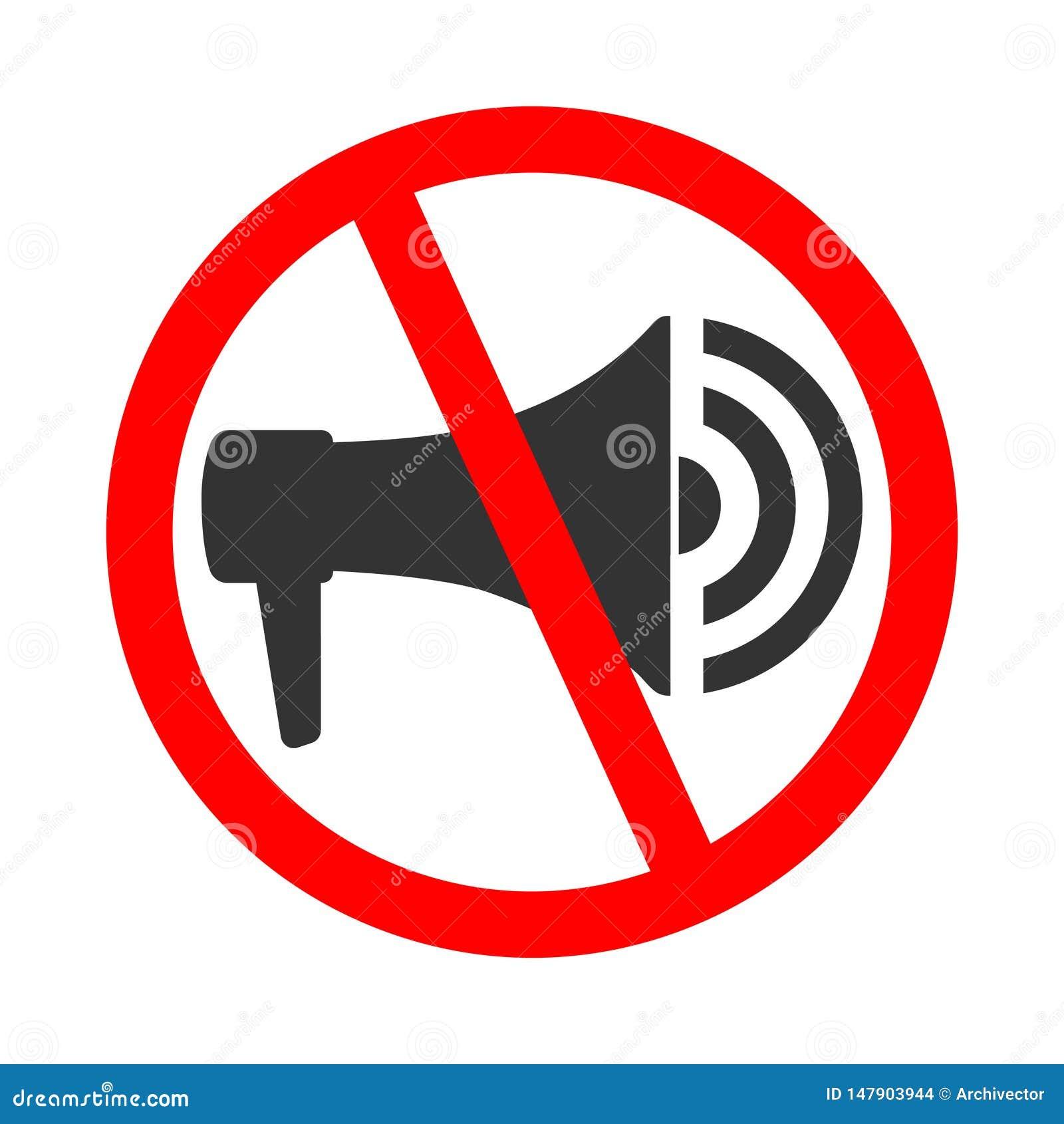 N utilisez pas le mégaphone