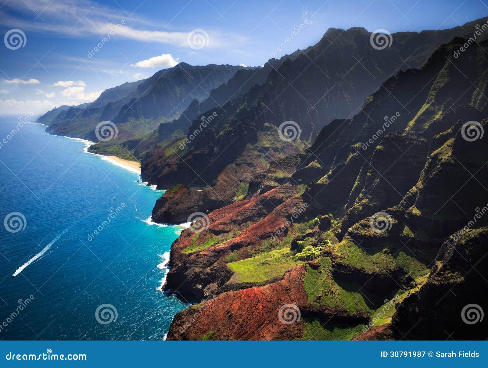 Na梵语海岸线考艾岛