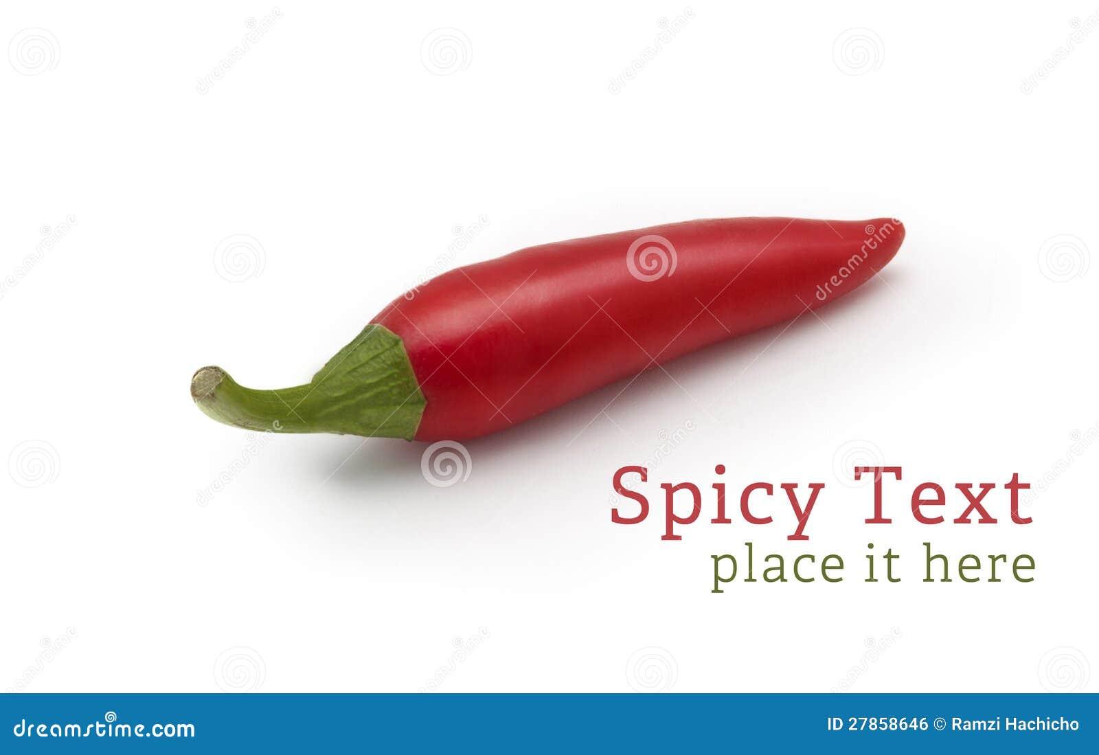 Na biały tle Chili czerwony Pieprz