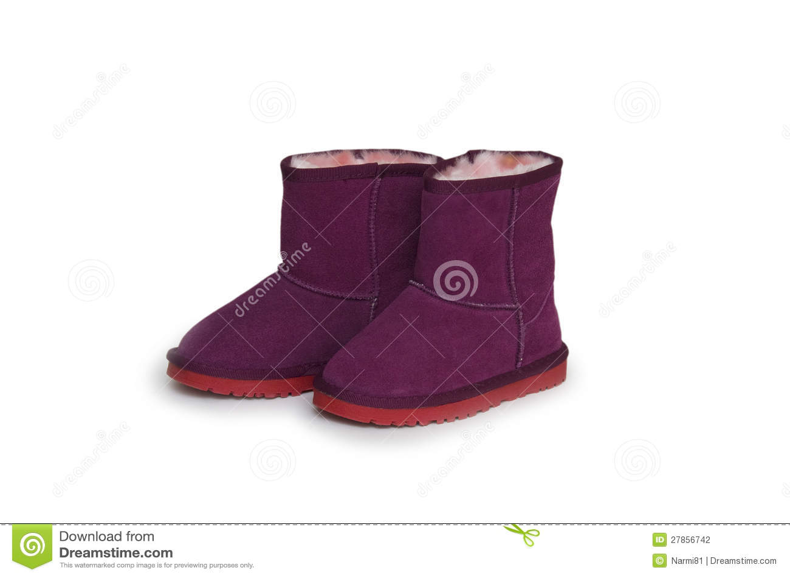 Na biały tle zima buty