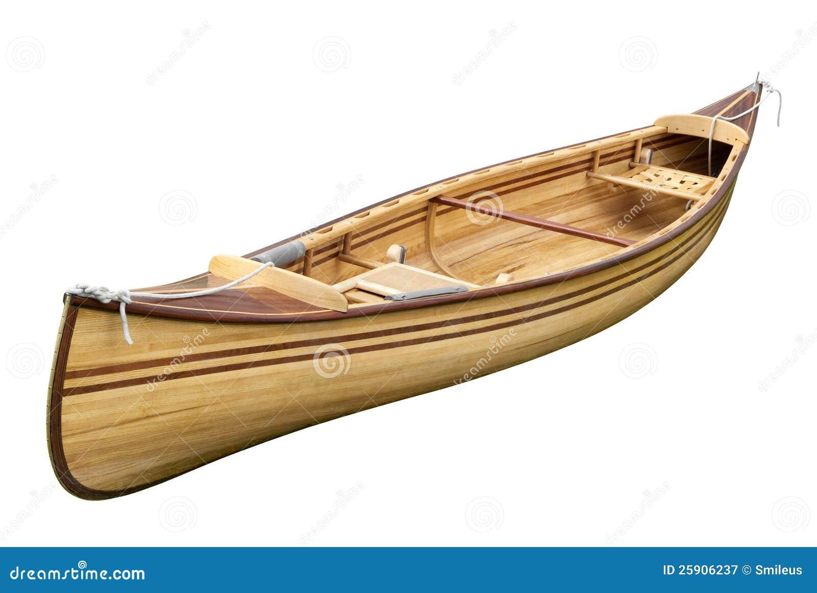 Na biel mała wioślarska łódź