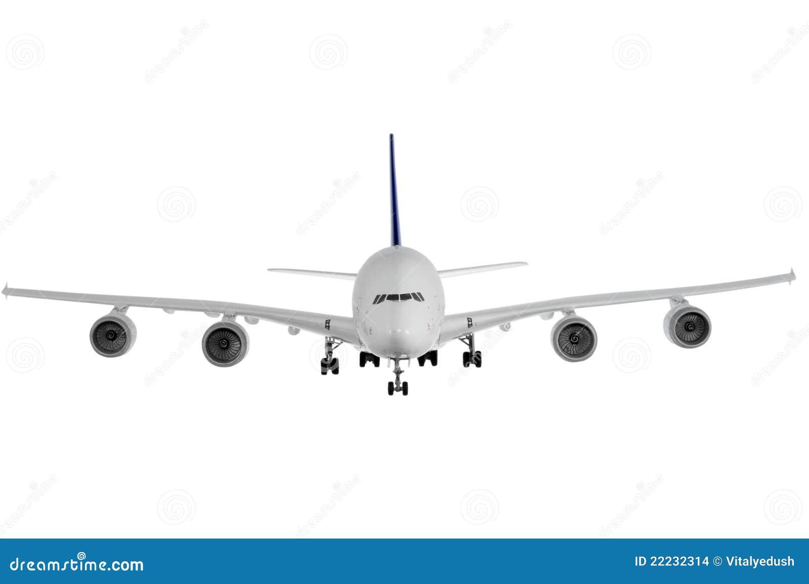 Na biel nowożytny samolot.