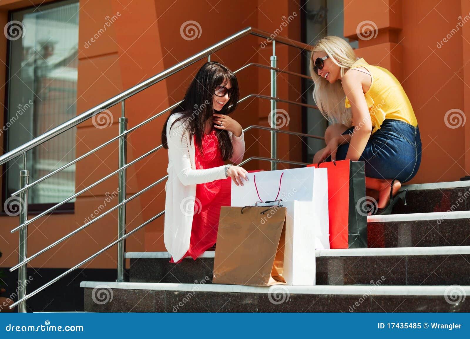 Na het winkelen.
