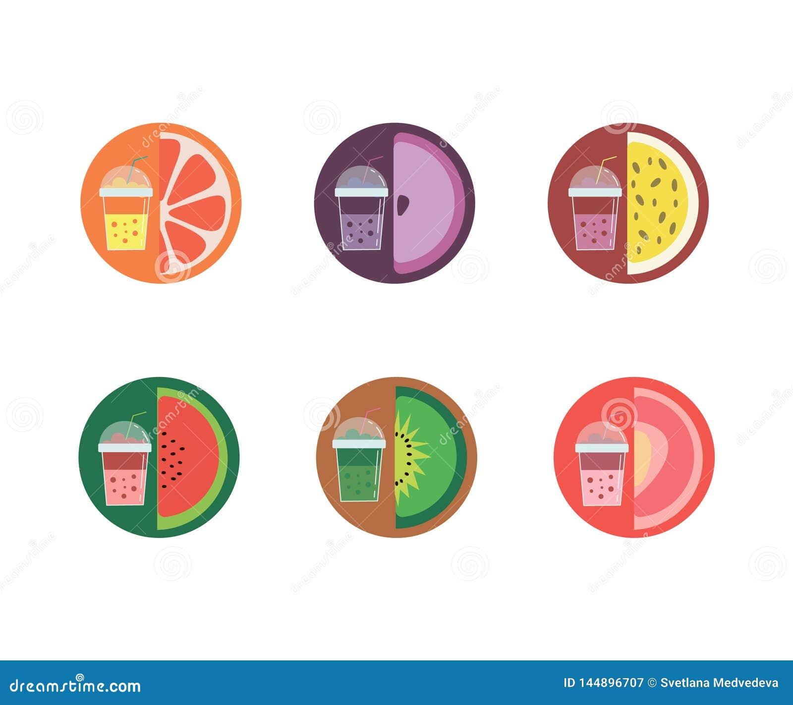 Na ilustração, seis sabores da limonada
