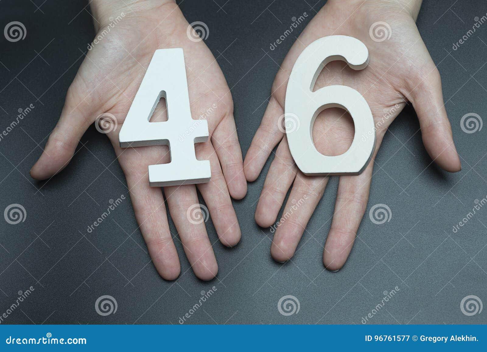 Na kobiet palm postaci czterdzieści sześć