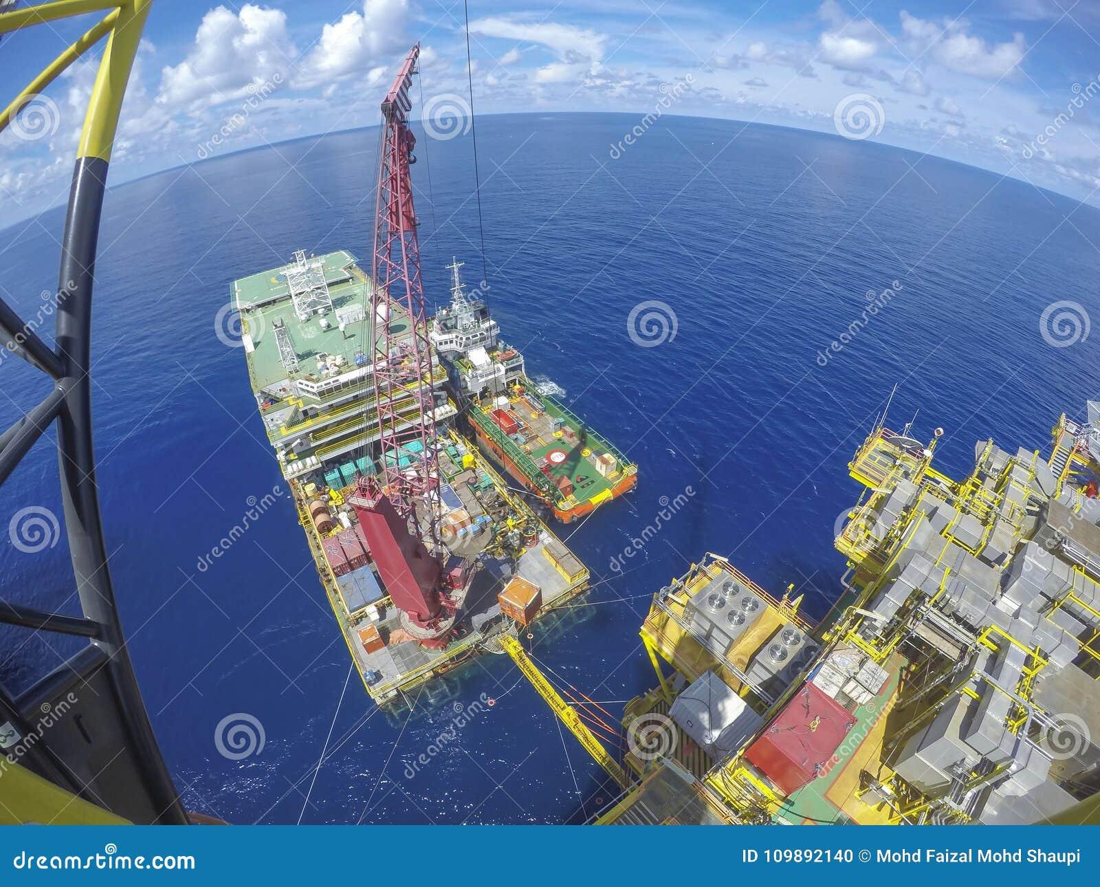 Na morzu Ropa I Gaz przemysłu styl życia