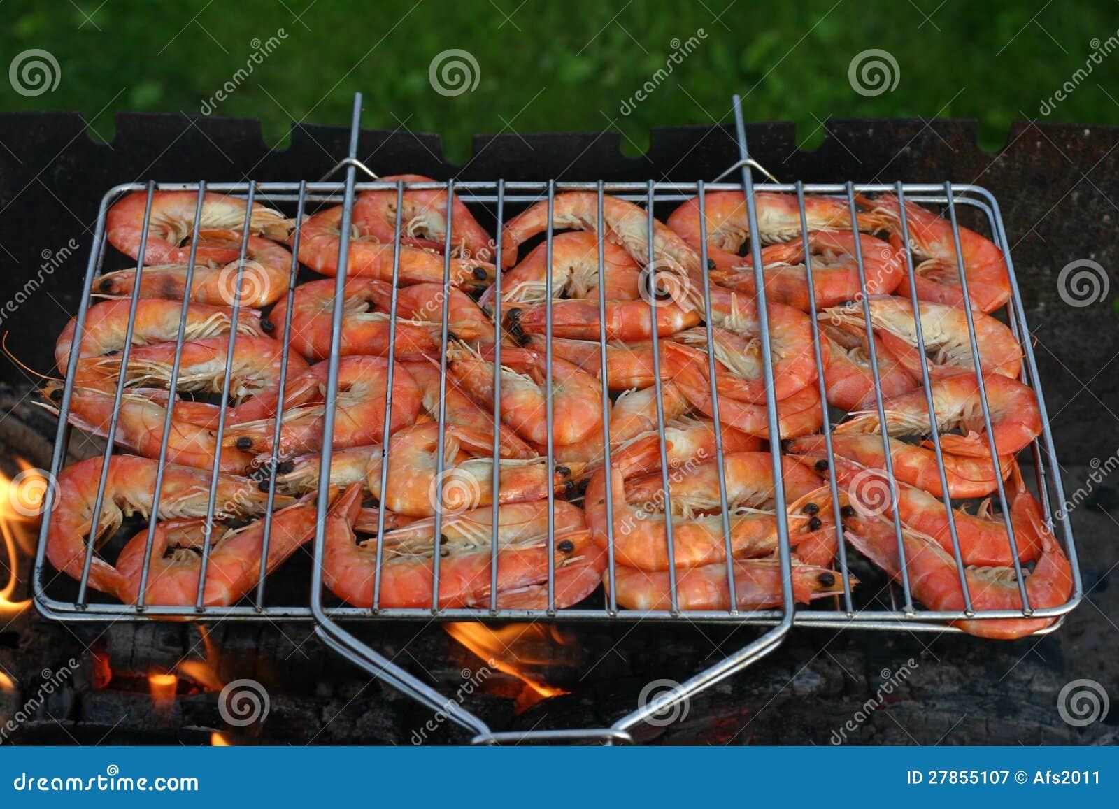 Na ogieniu kulinarne krewetki