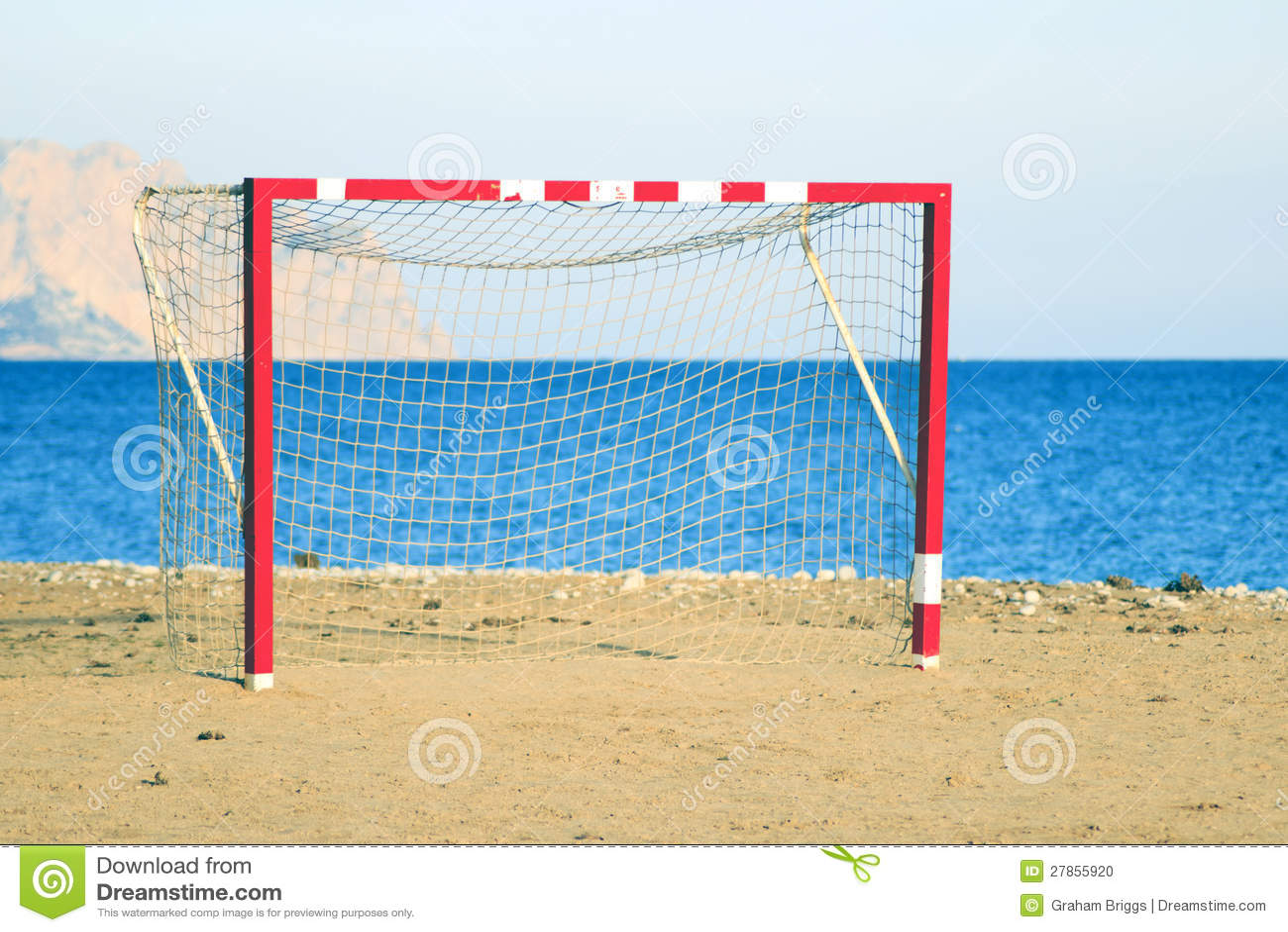 Na plaży piłki nożnej sieć