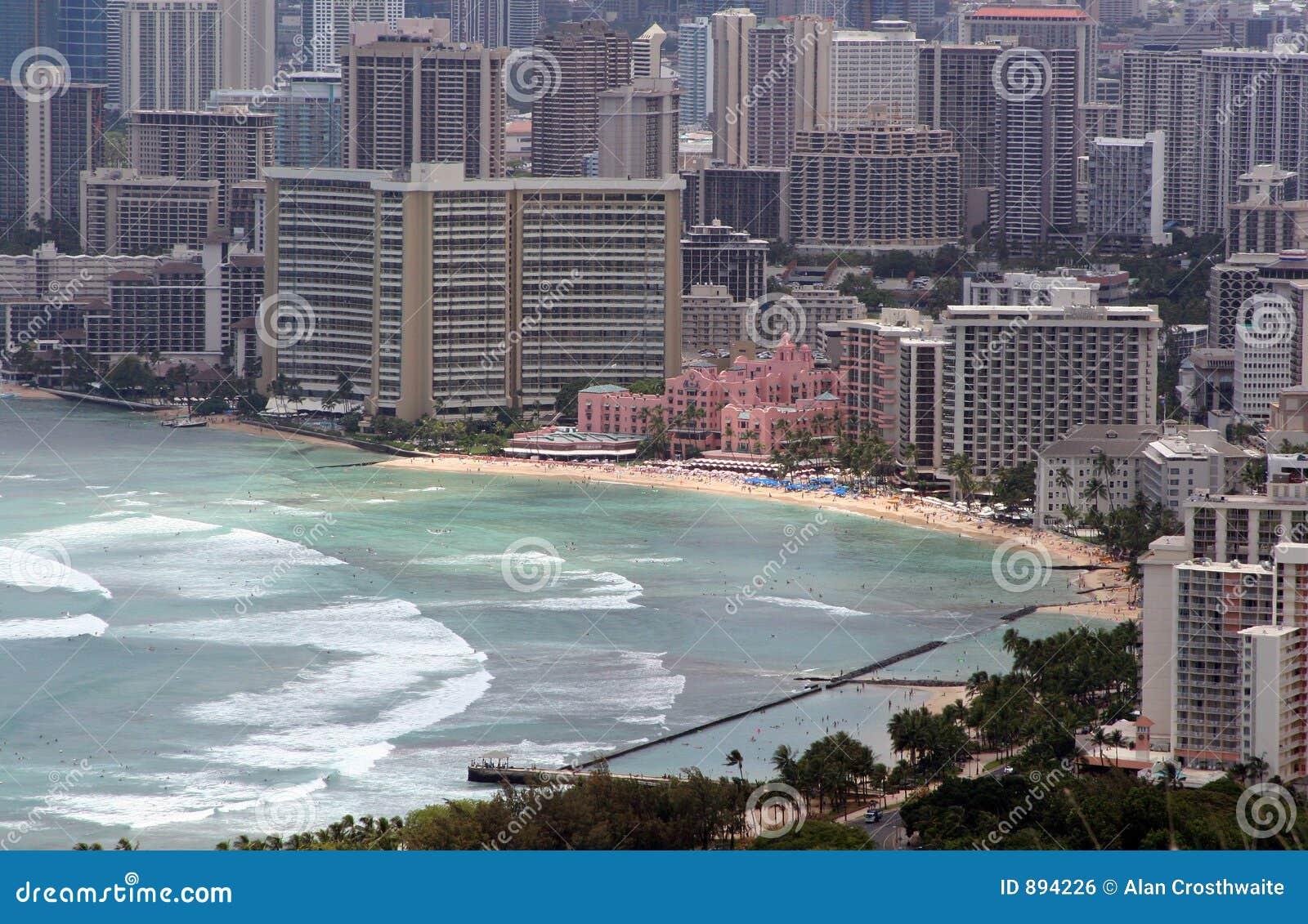 Na plaży w waikiki Honolulu.