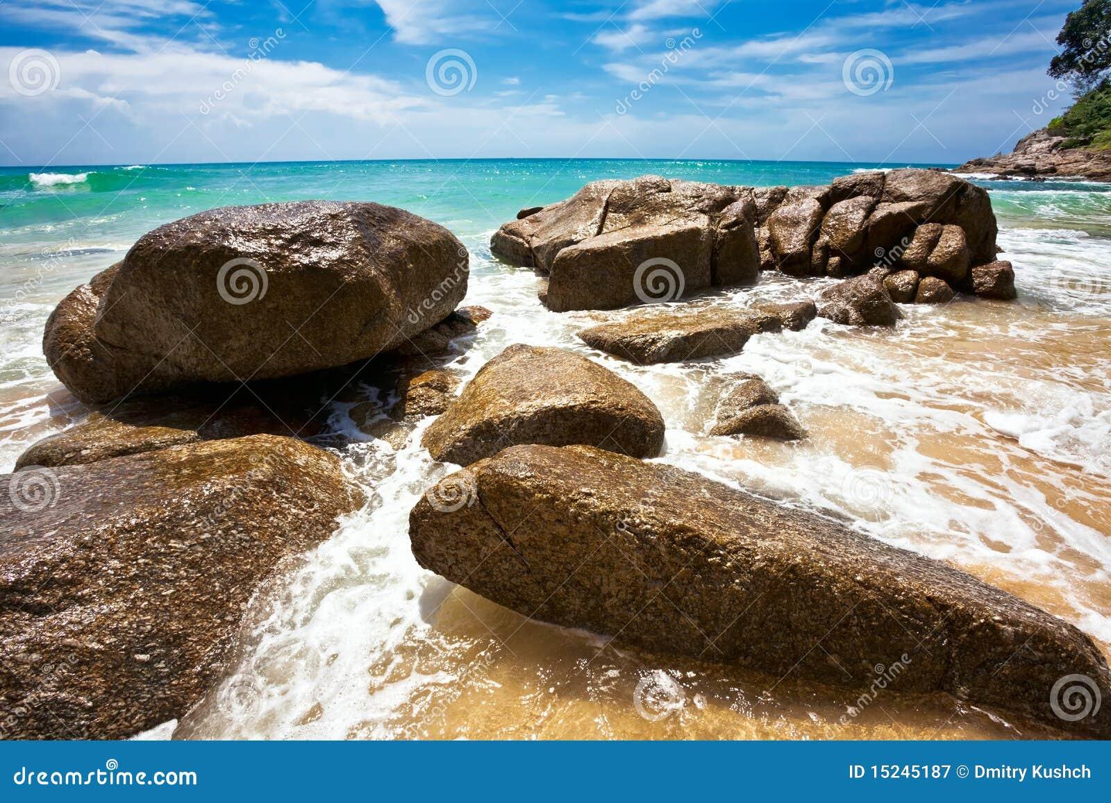 Na praia tropical