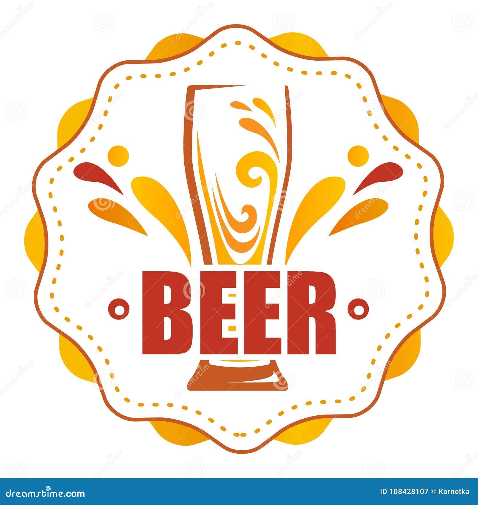 Na round etykietce jeden szkło piwo