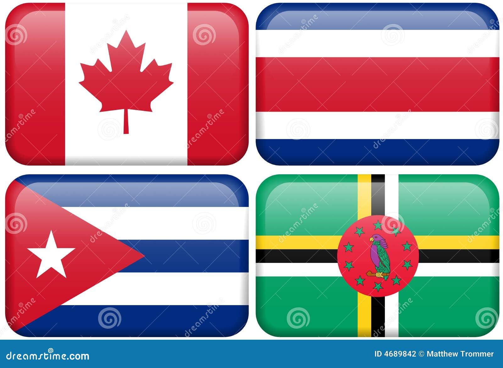Na-Tasten: Kanada, Costa Rica, Kuba, Dominica