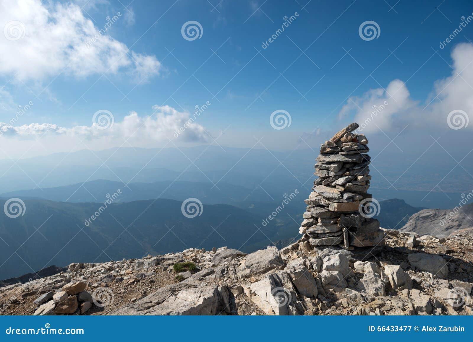 Na wierzchołku góra Olympus