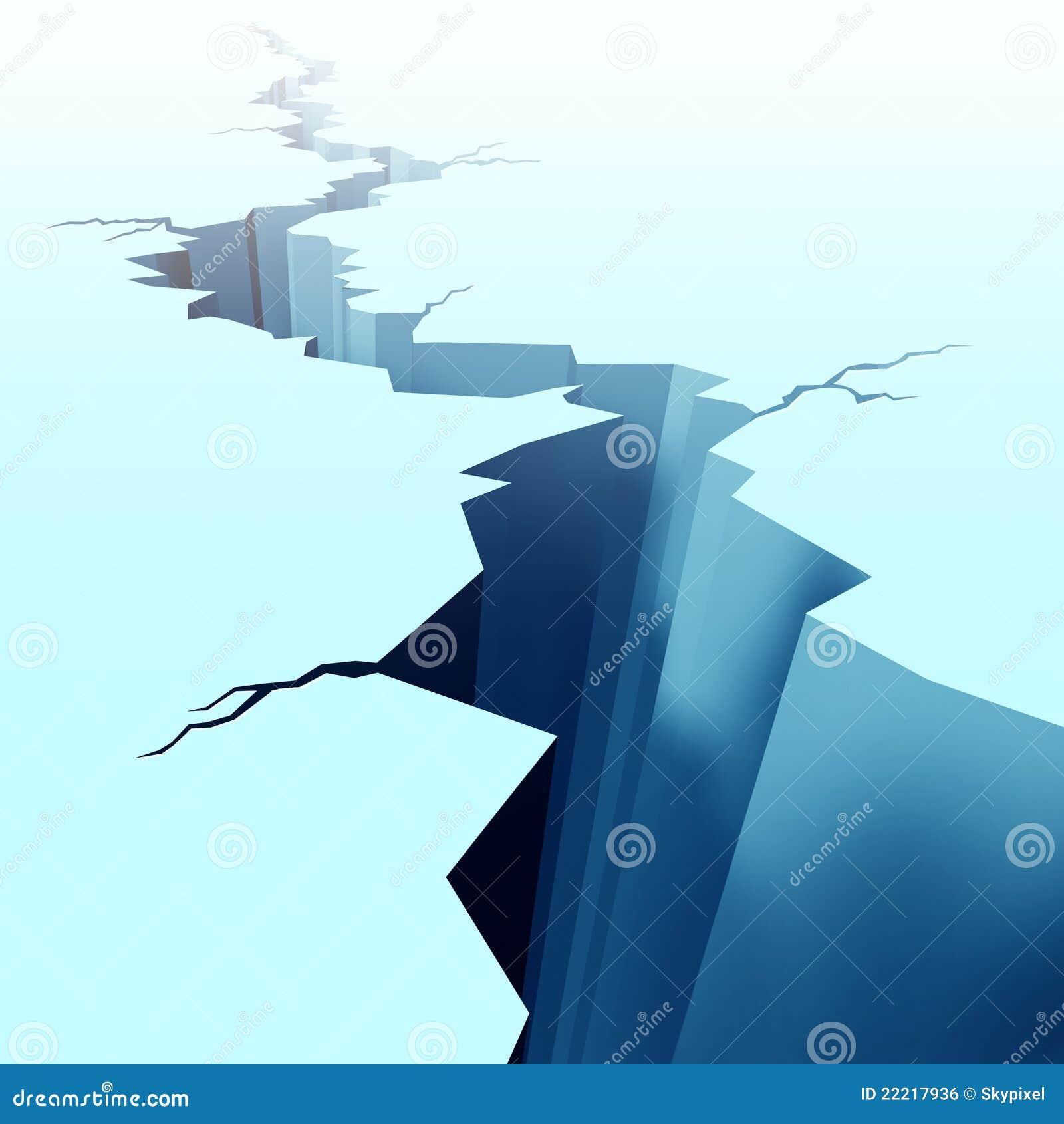 Na zamarzniętej podłoga krakingowy lód