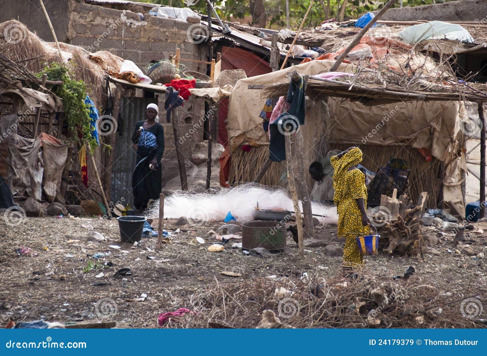Na zewnątrz wioski Bamako bozo